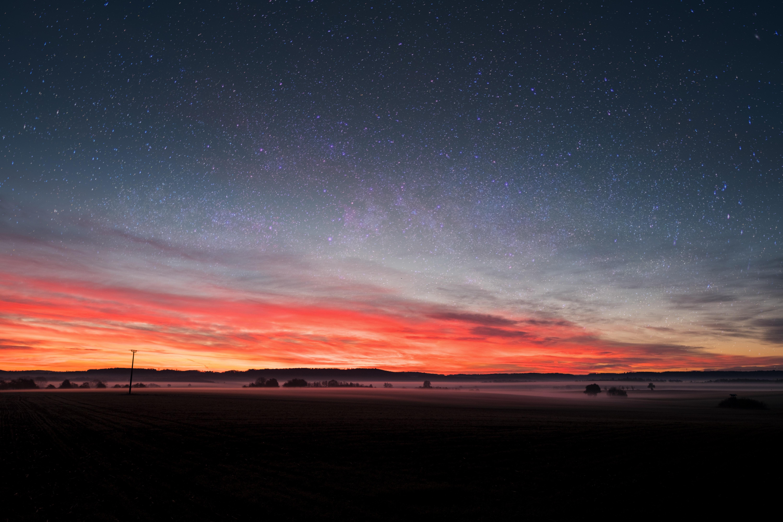 Banco De Imagens Papel De Parede 4k Afterglow Astronomia