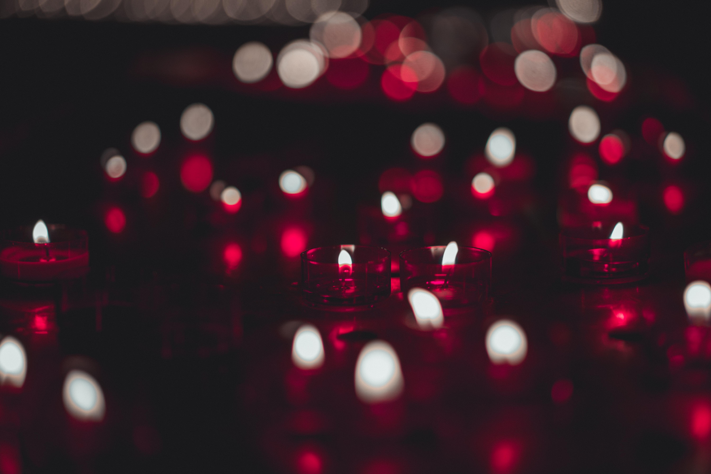Free Images : 4k wallpaper, blur, bokeh, burning, candles