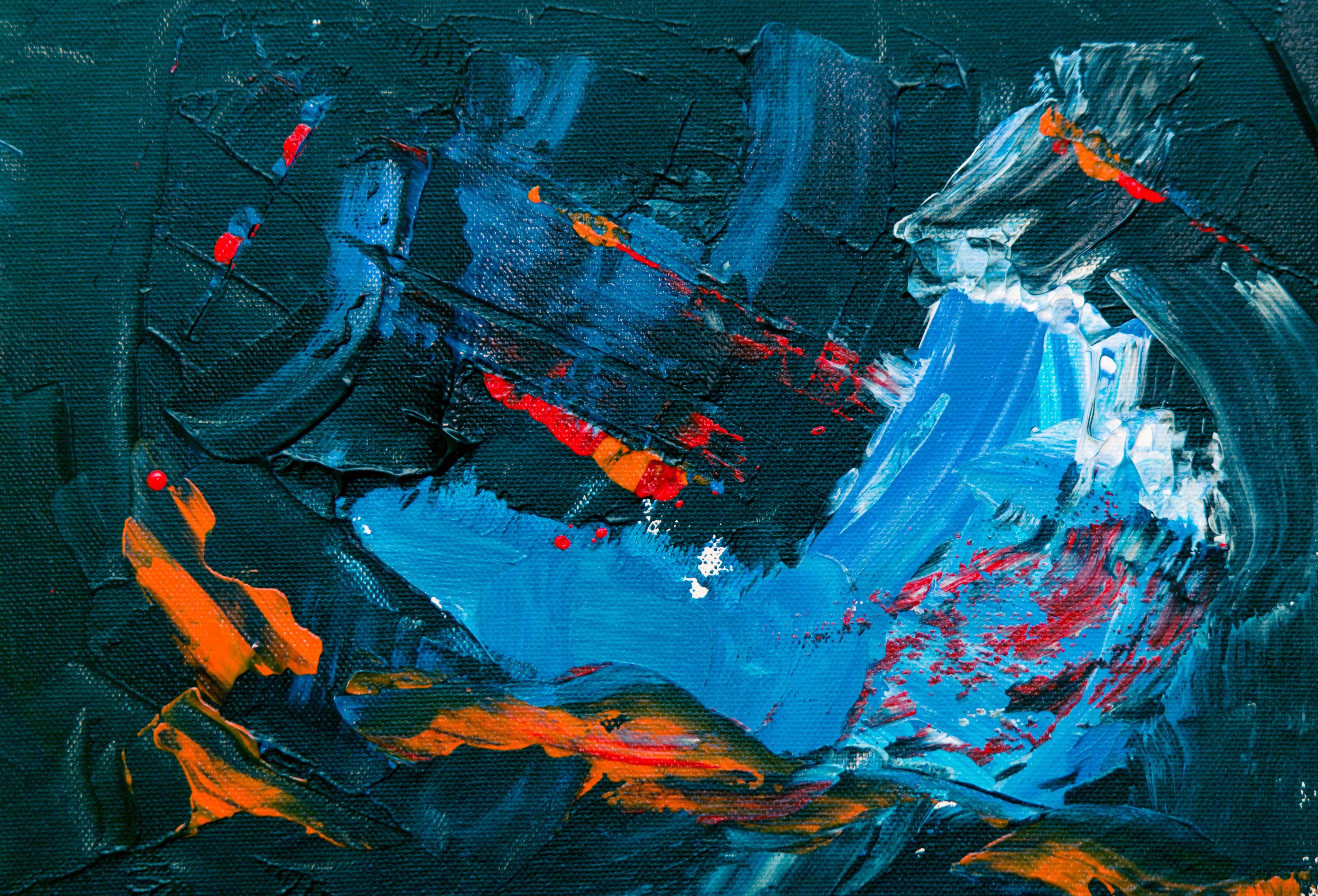 Gambar Abstrak Ekspresionisme Lukisan Abstrak Cat