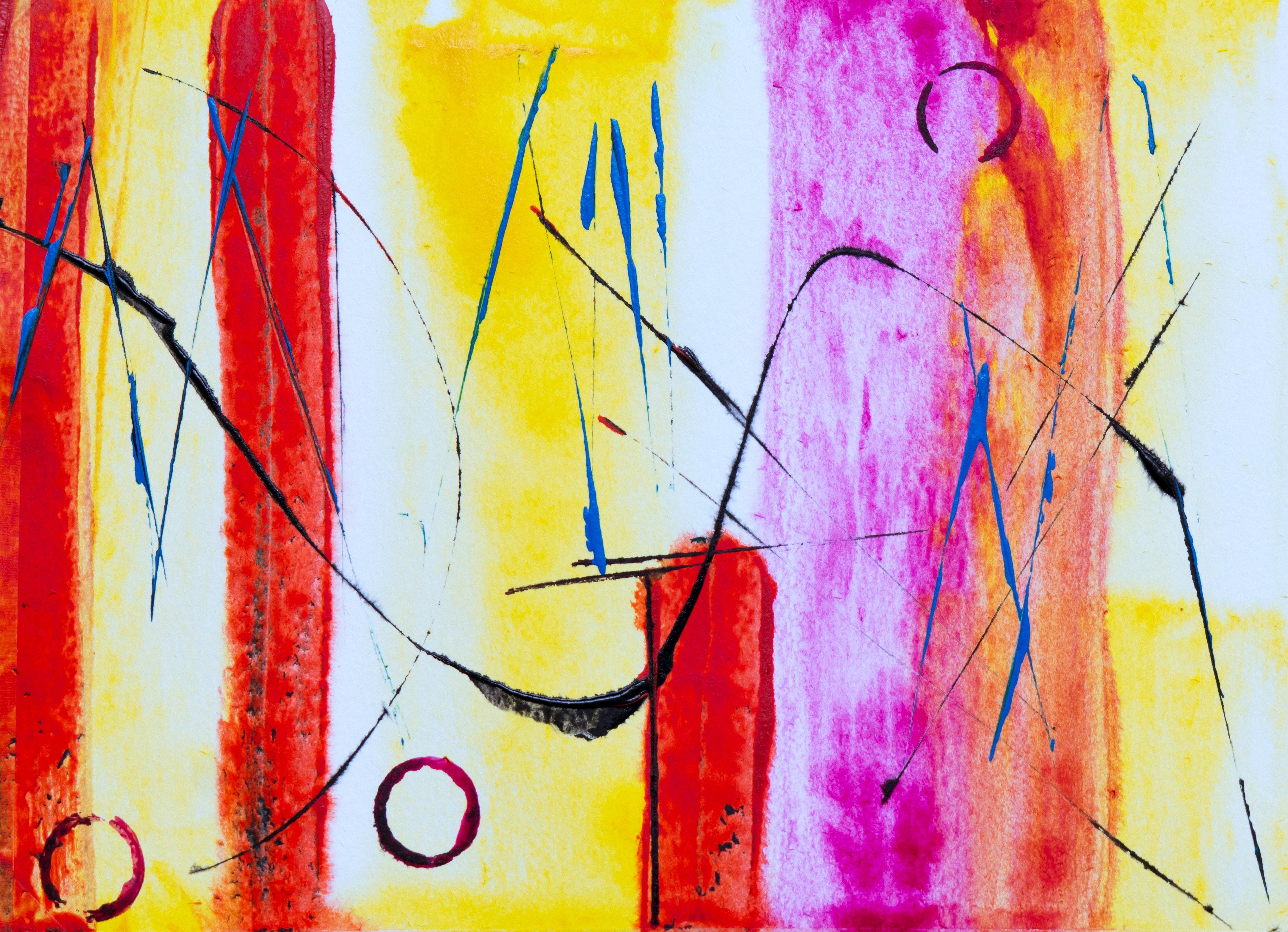54 Gambar Abstrak Ekspresionisme