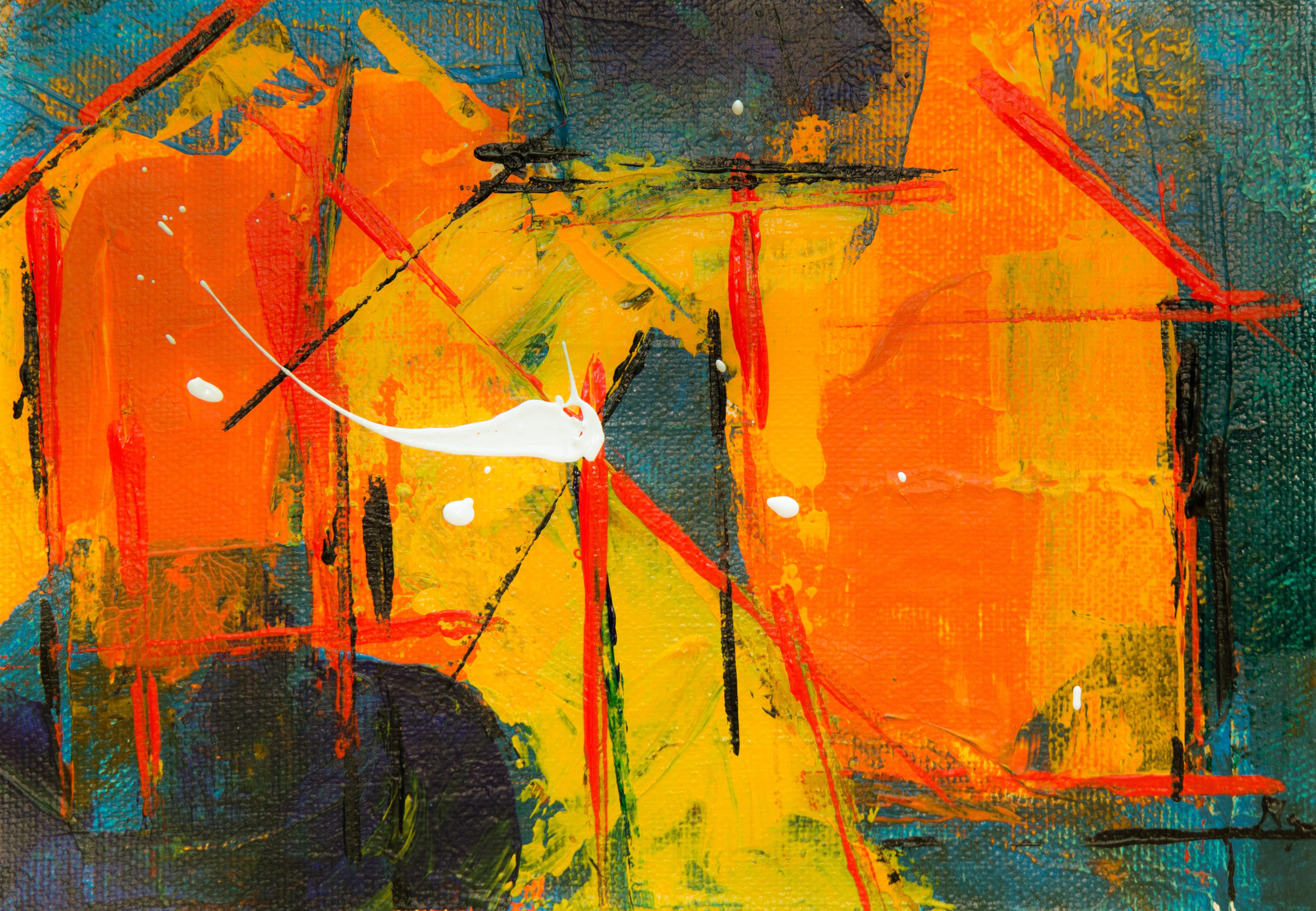 Uitgelezene Gratis Afbeeldingen : abstract expressionisme, abstract schilderij OX-81