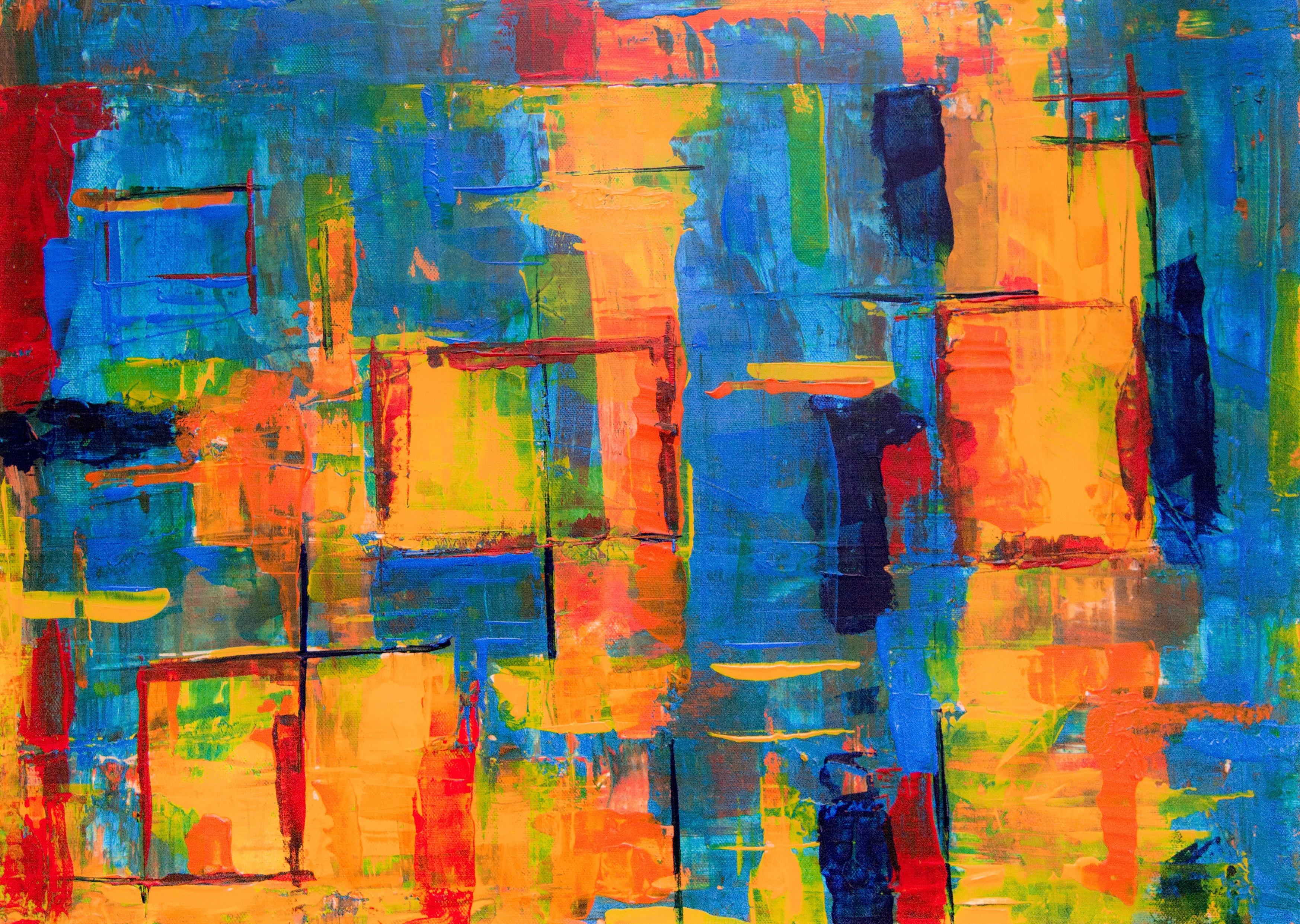Ongekend Gratis Afbeeldingen : abstract expressionisme, abstract schilderij KT-65
