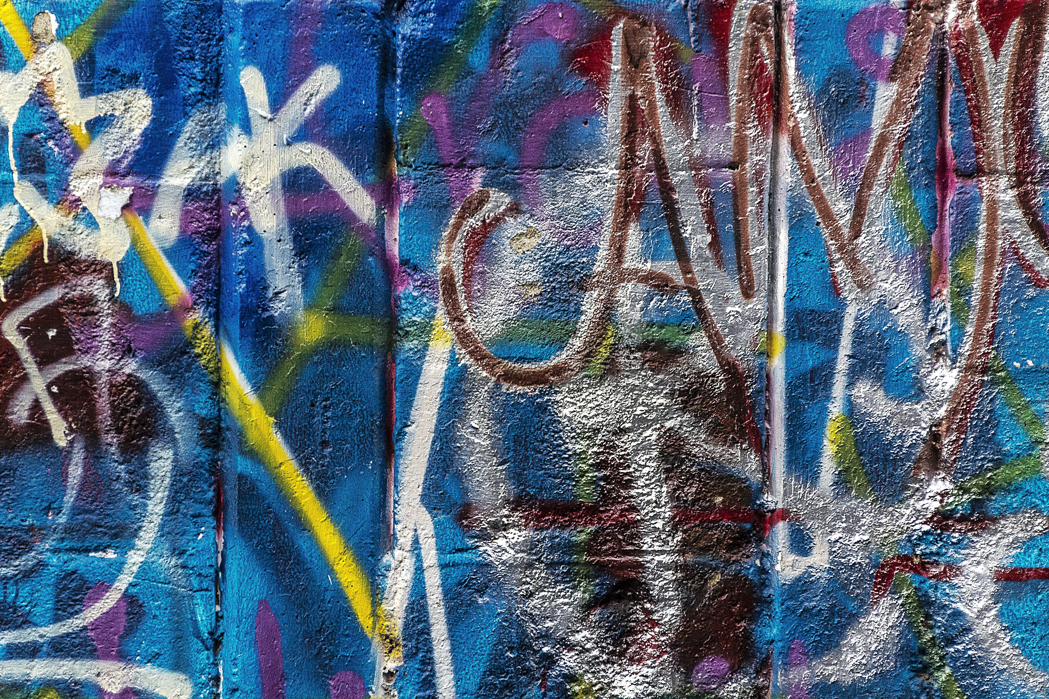 Abstract city urban color artistic grunge graffiti painting street art art vandalism background mural spray paint