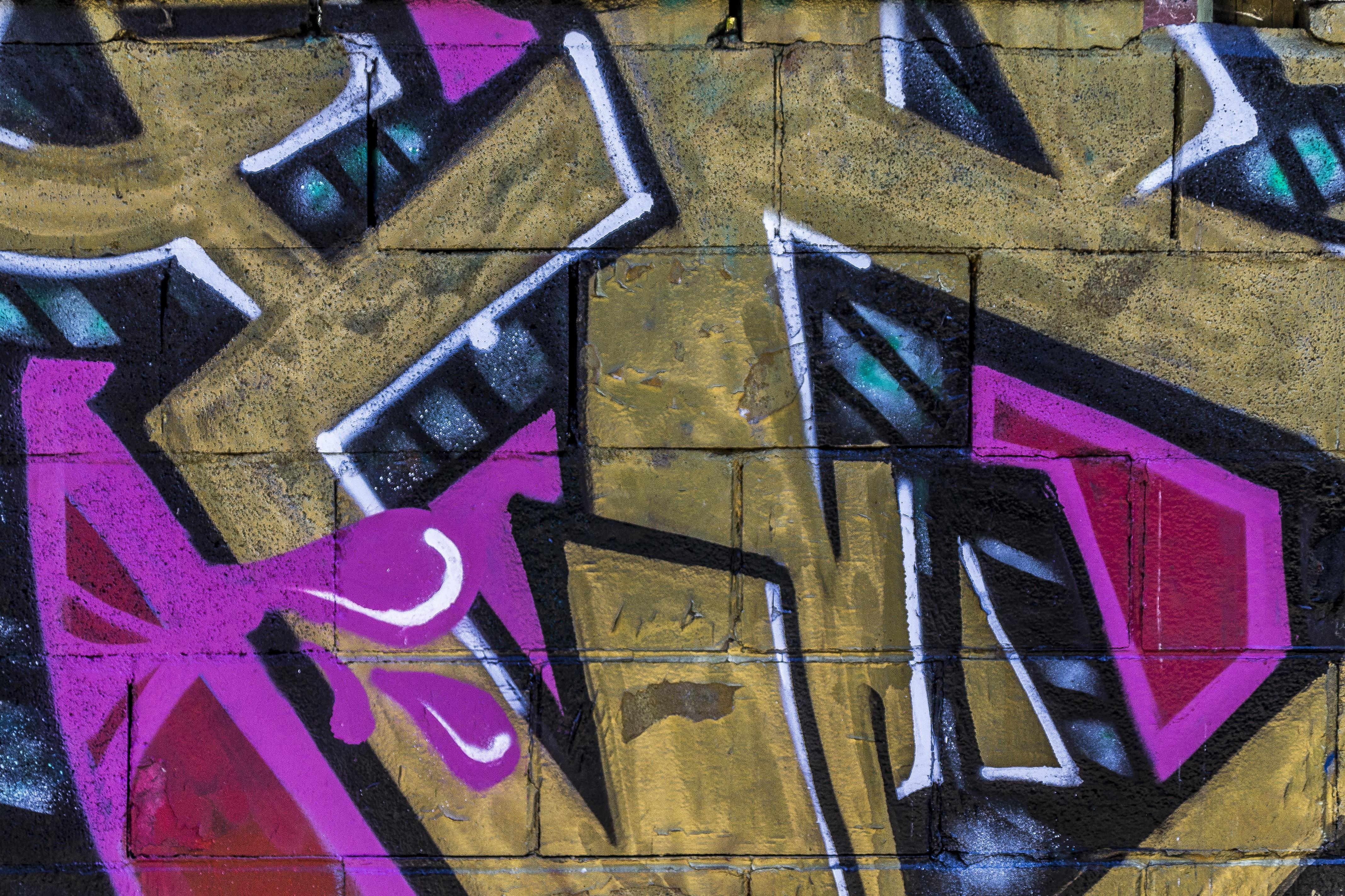 Graffiti art background - Abstract City Urban Wall Color Artistic Grunge Brick Graffiti Brick Wall Street Art Art Background Mural