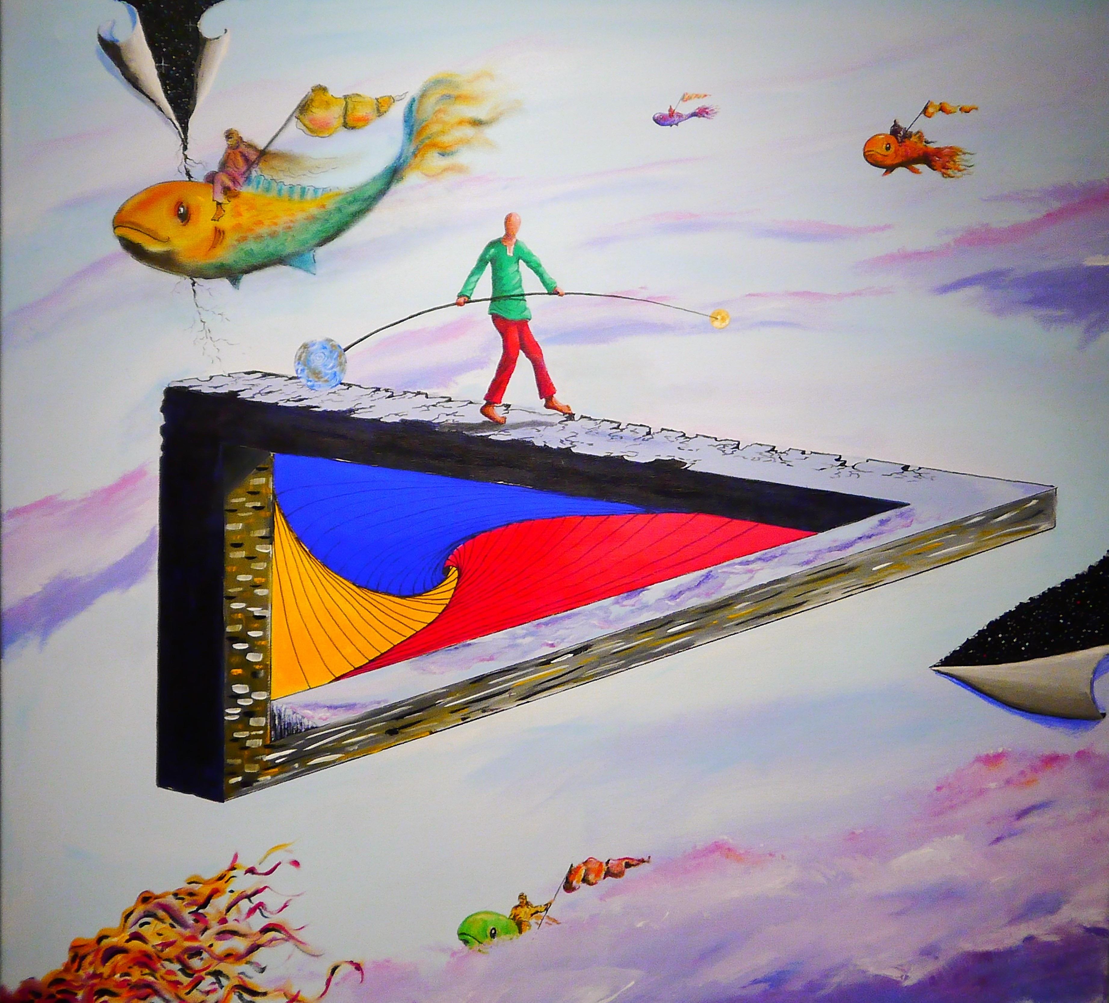 Abstrait Couleur Peindre La Peinture Art Illustration Mural Surréaliste  Fantaisie Forme Toile Art Moderne Peinture Acrylique