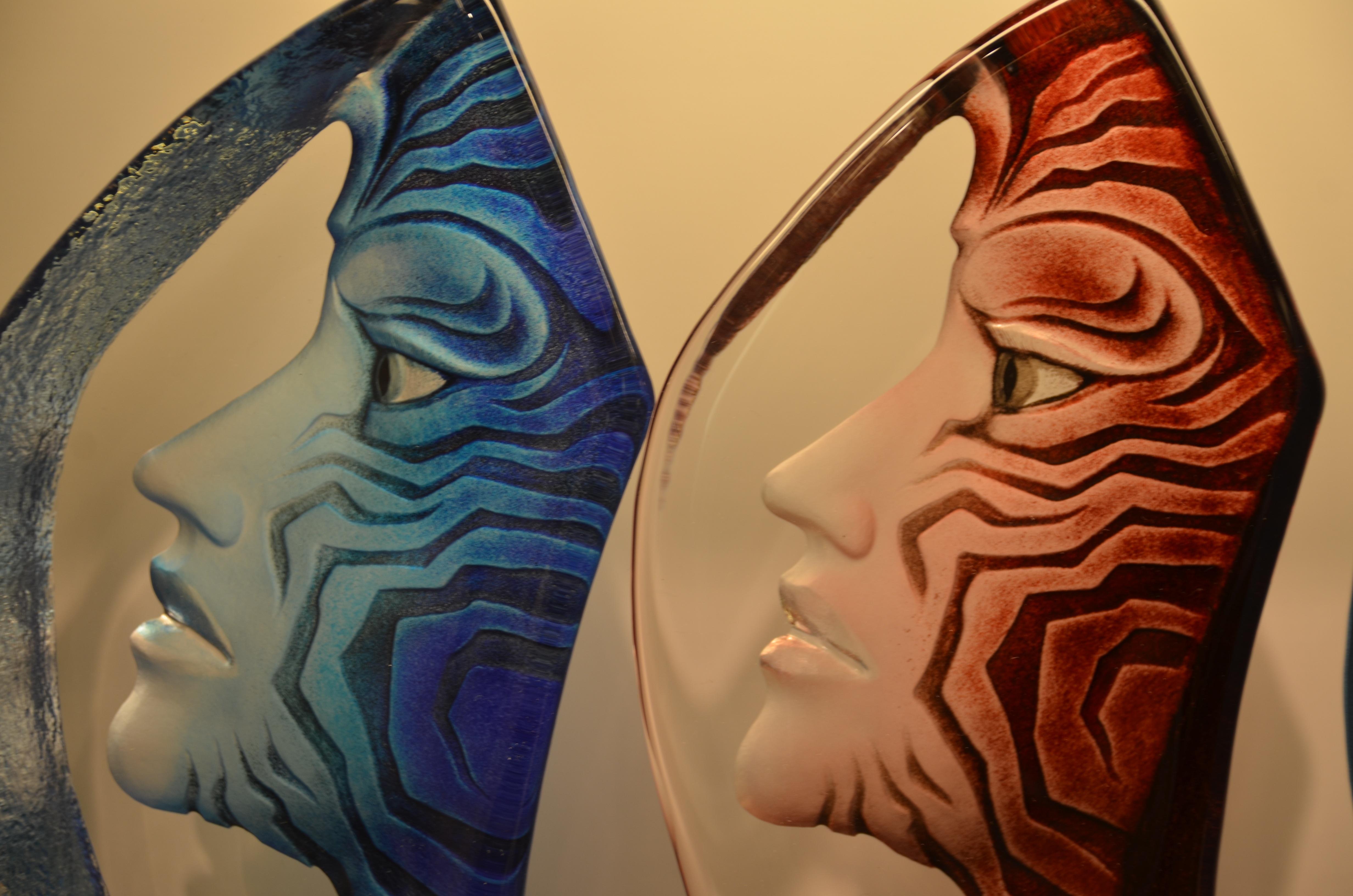 Gambar Abstrak Kaca Profil Warna Lengan Lukisan