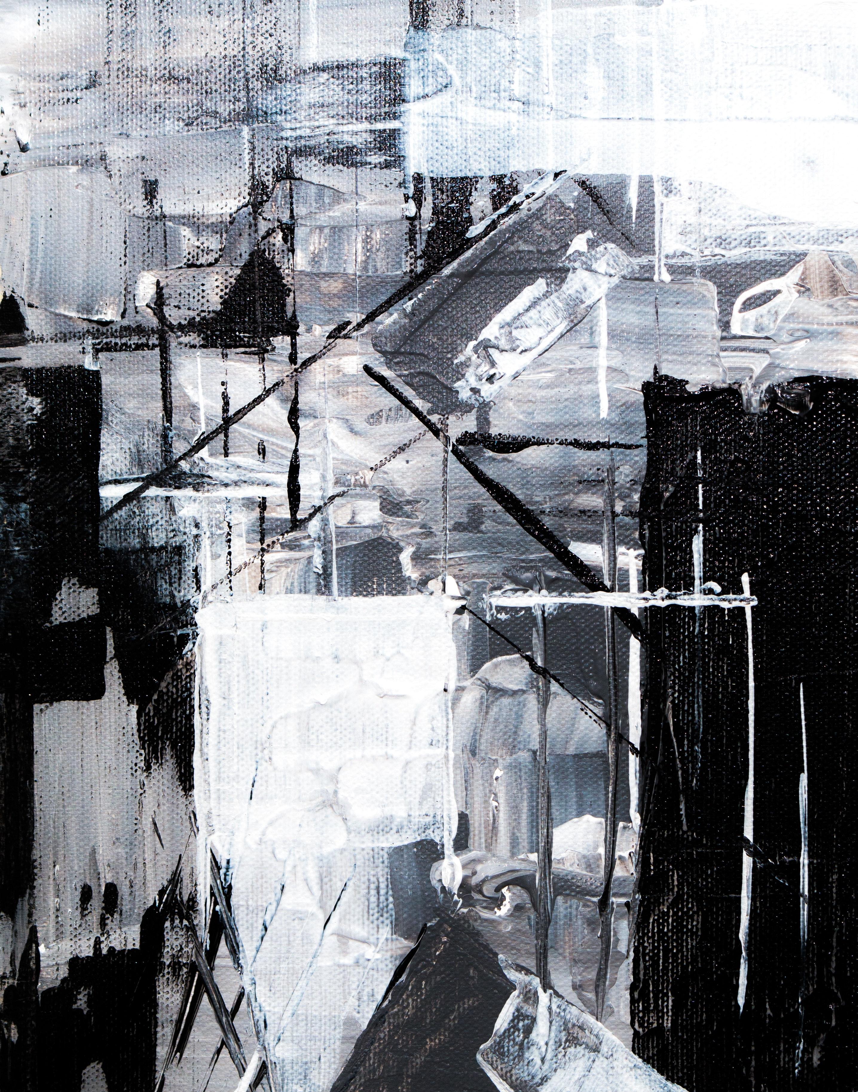 Onwijs Gratis Afbeeldingen : abstract schilderij, artistiek, zwart en wit RI-86