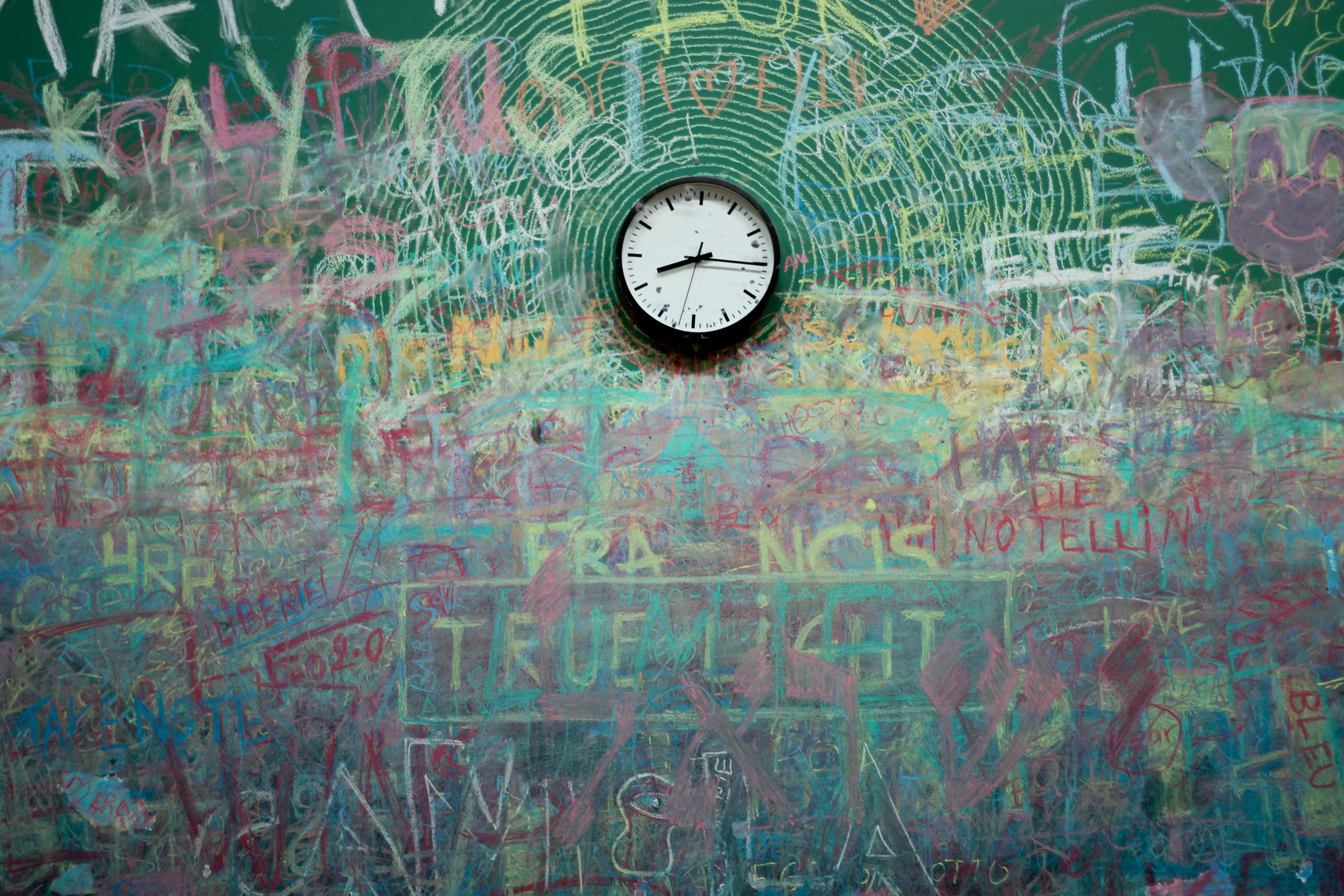 Images Gratuites Abstrait Cru Texture Lhorloge Temps Mur