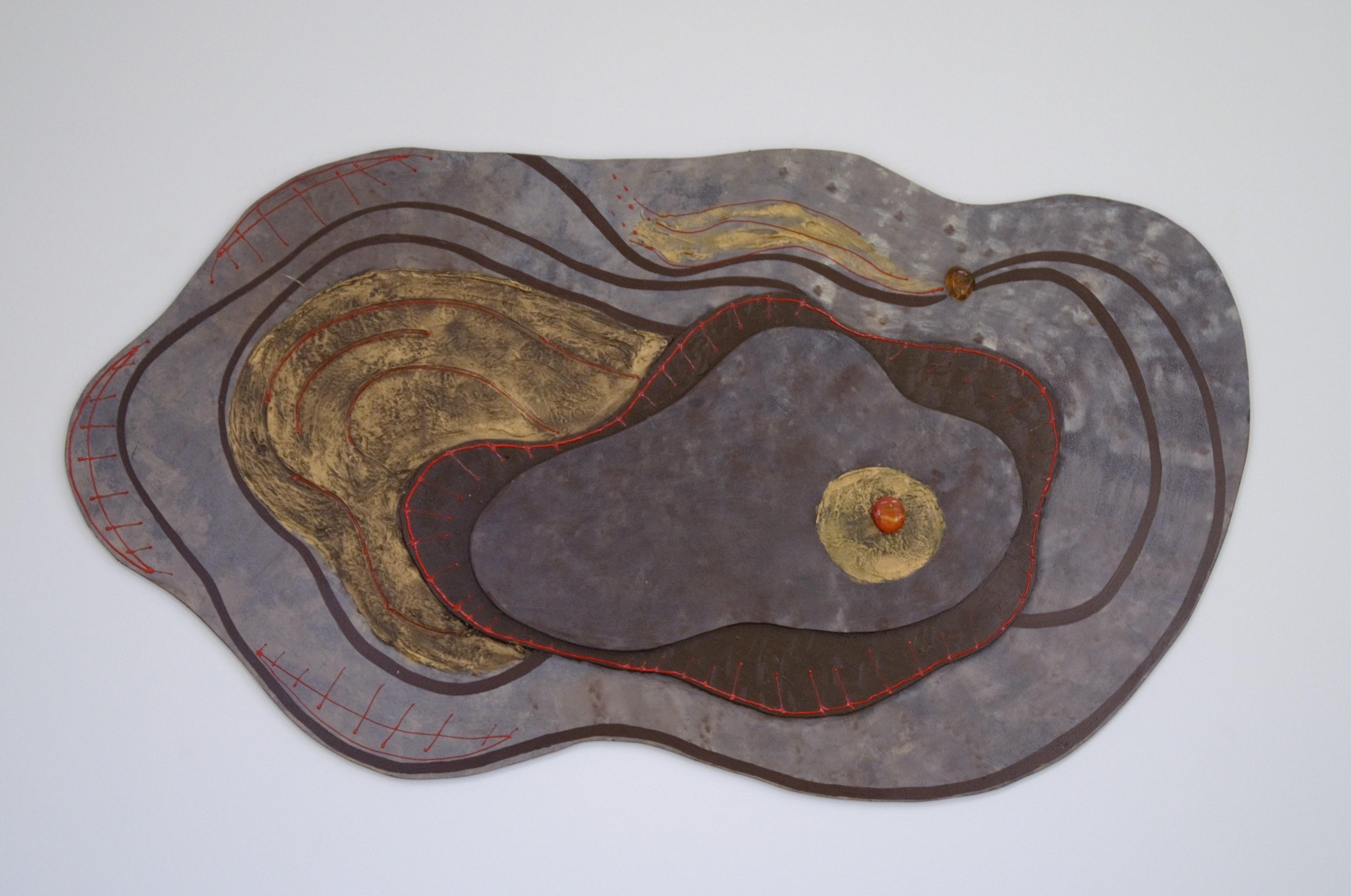 Gambar Abstrak Kayu Dekorasi Geometris Keramik Bahan
