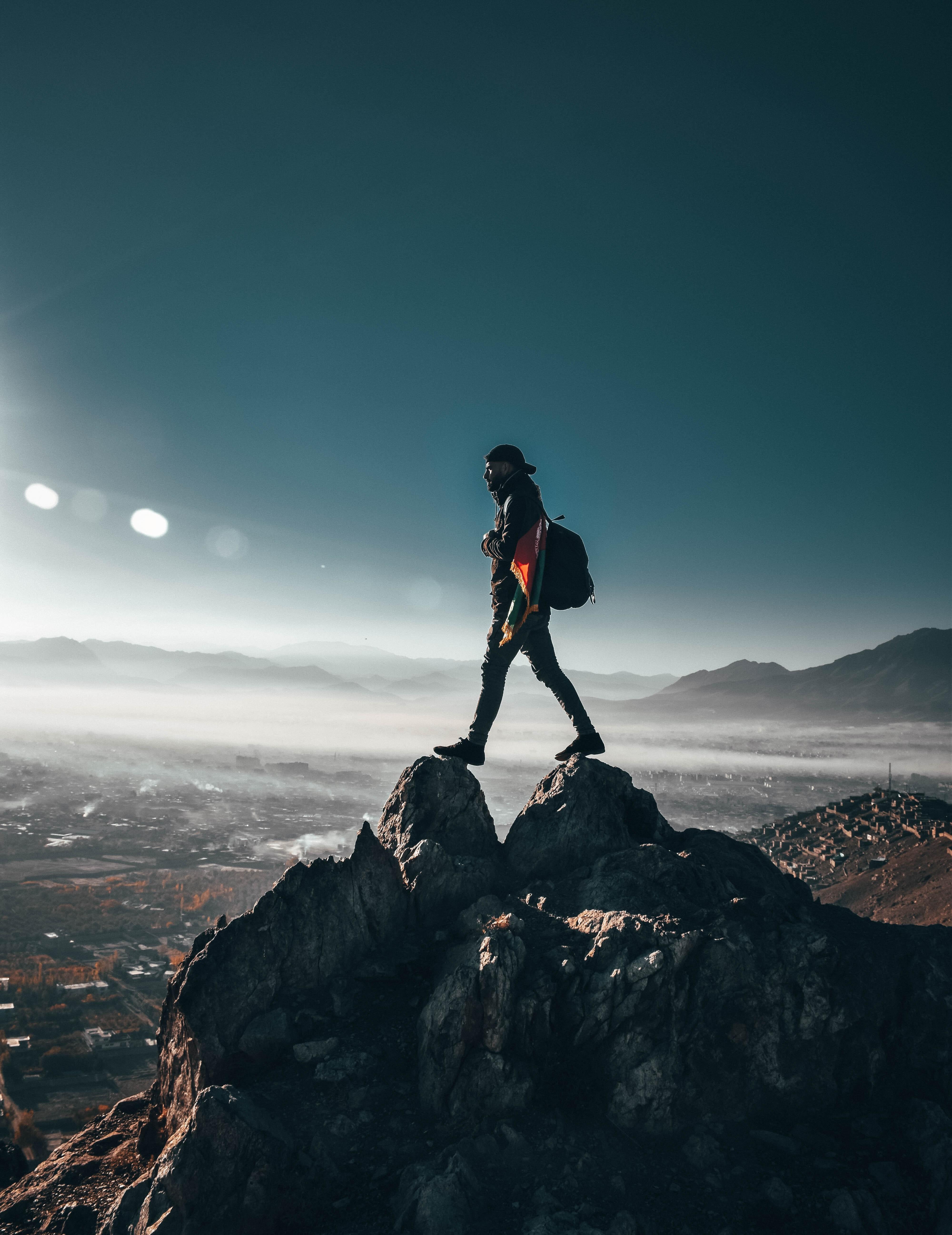 Acomplishment free images : accomplishment, adventure, backpacker, clear