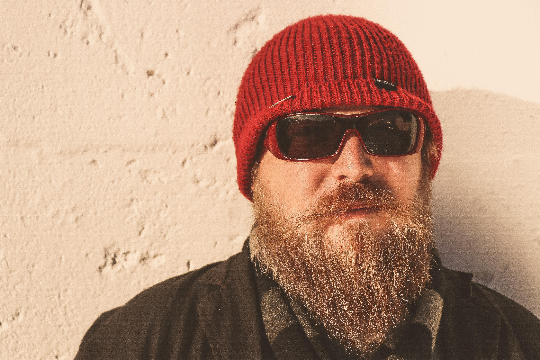 5945a485f3b adult apparel beanie beard cap cold cool eyewear facial hair fashion male  man model mustache person