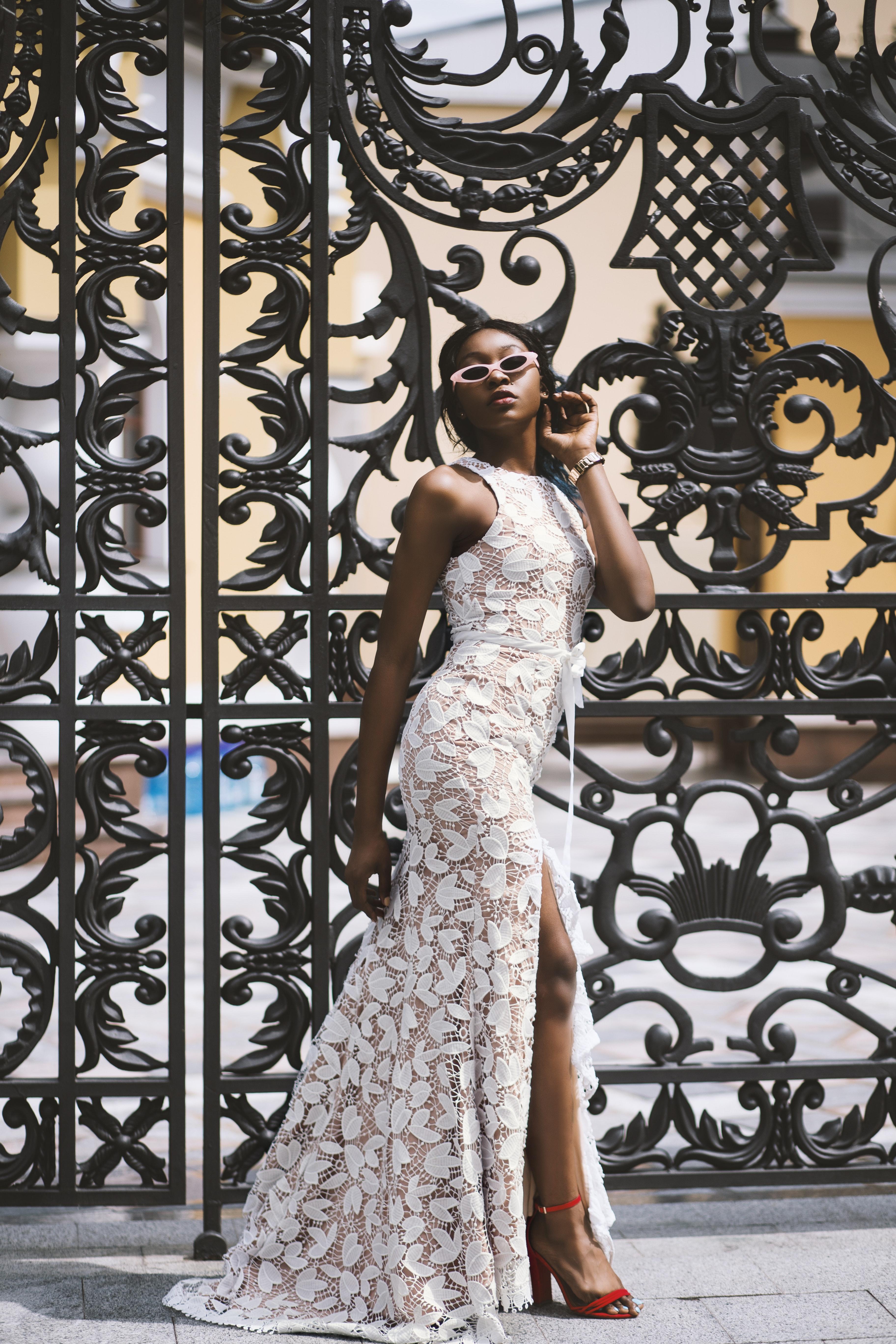 2cf9d0b597def dospelý umenie umelecký krásny svadobné dizajn šaty elegantný móda  kvetinové šaty dievča Model ozdobený vzor človek