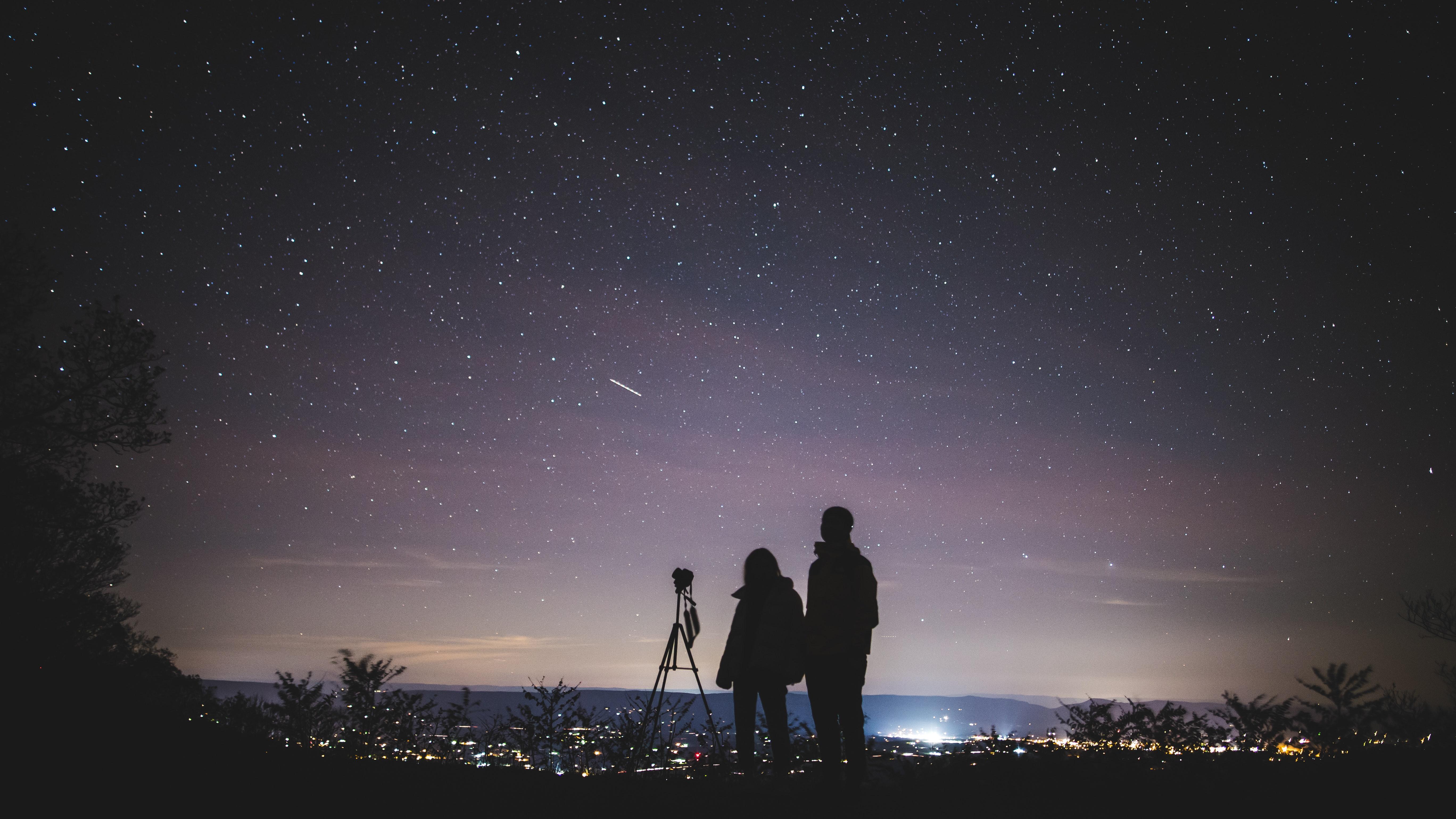 Gambar : dewasa, astronomi, astrophotography, konstelasi, sepasang