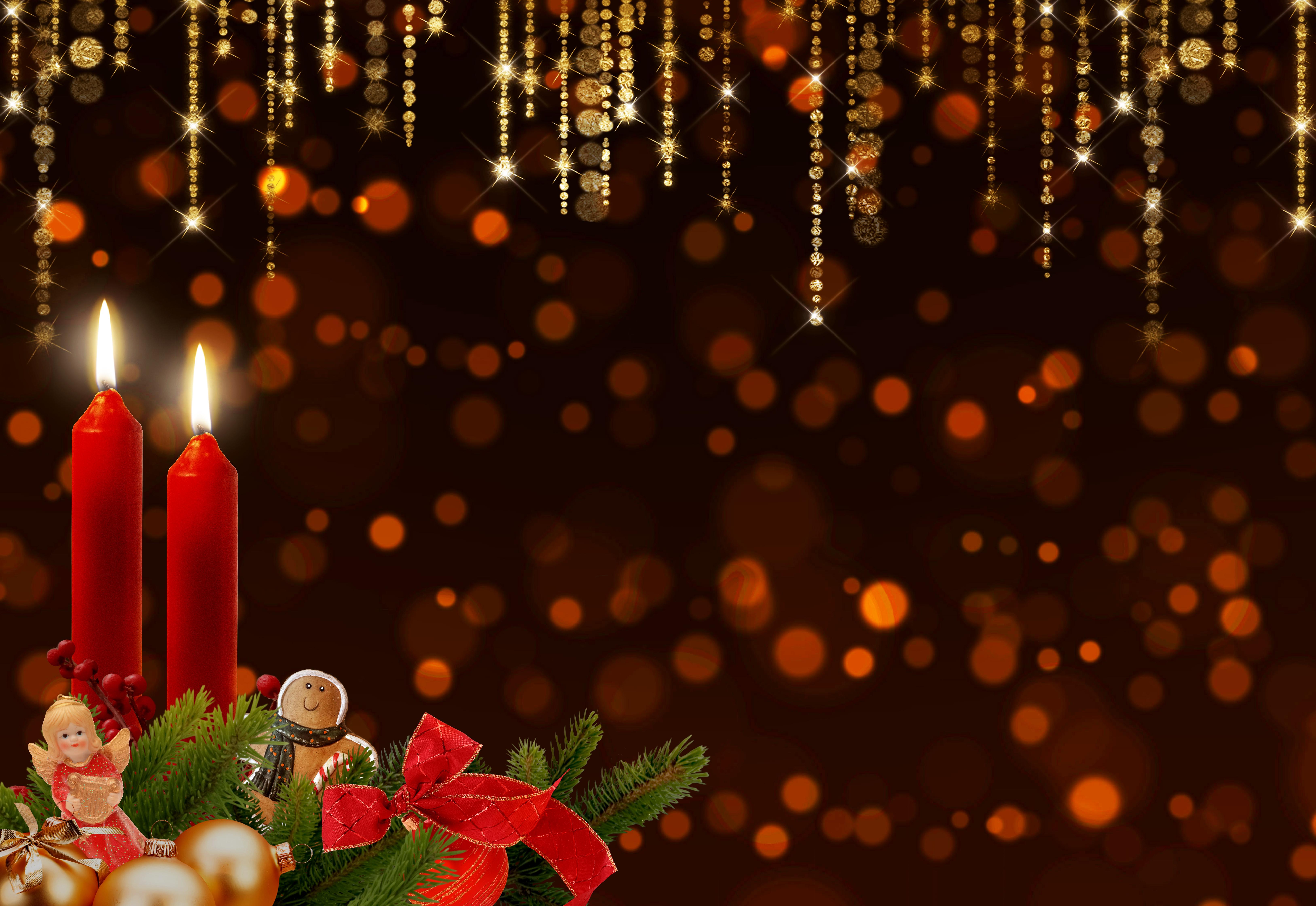 Weihnachtsbeleuchtung Kranz.Kostenlose Foto Advent Kerzen Kranz Bokeh Funkeln Glühen