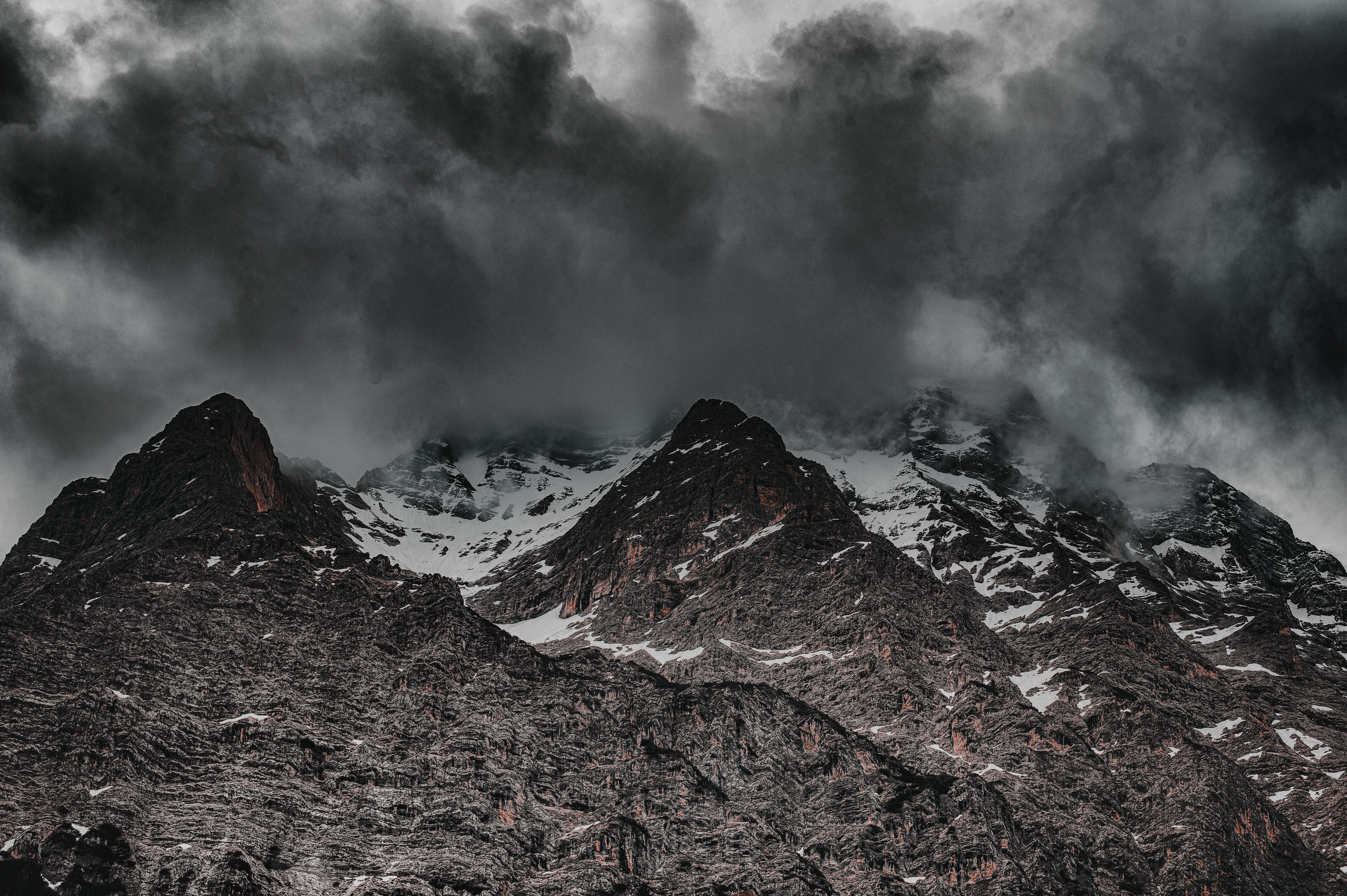 Immagini Belle Avventura Calamità Scalata Nuvole Freddo
