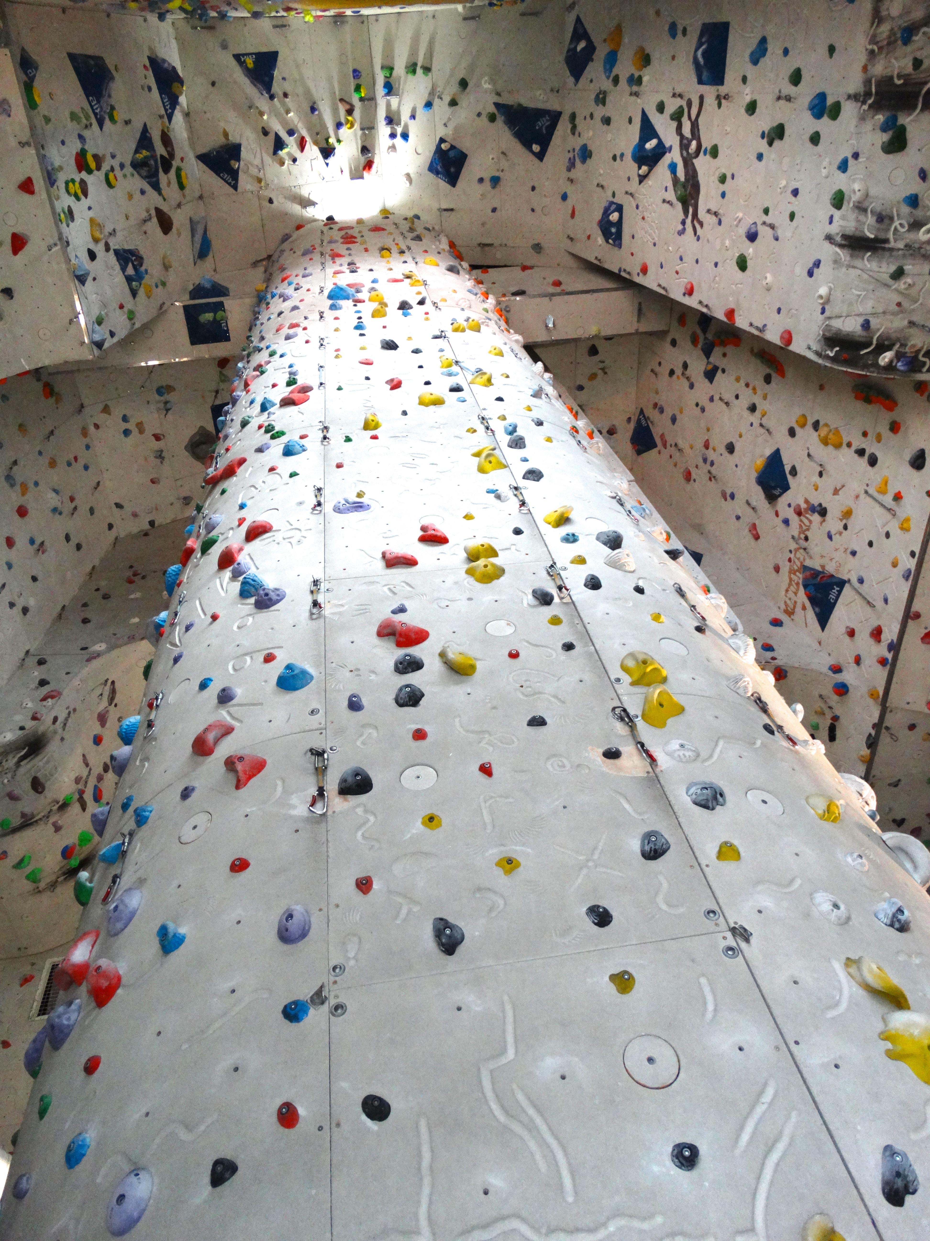 kostenlose foto : abenteuer, hoch, felsklettern, steil, bunt