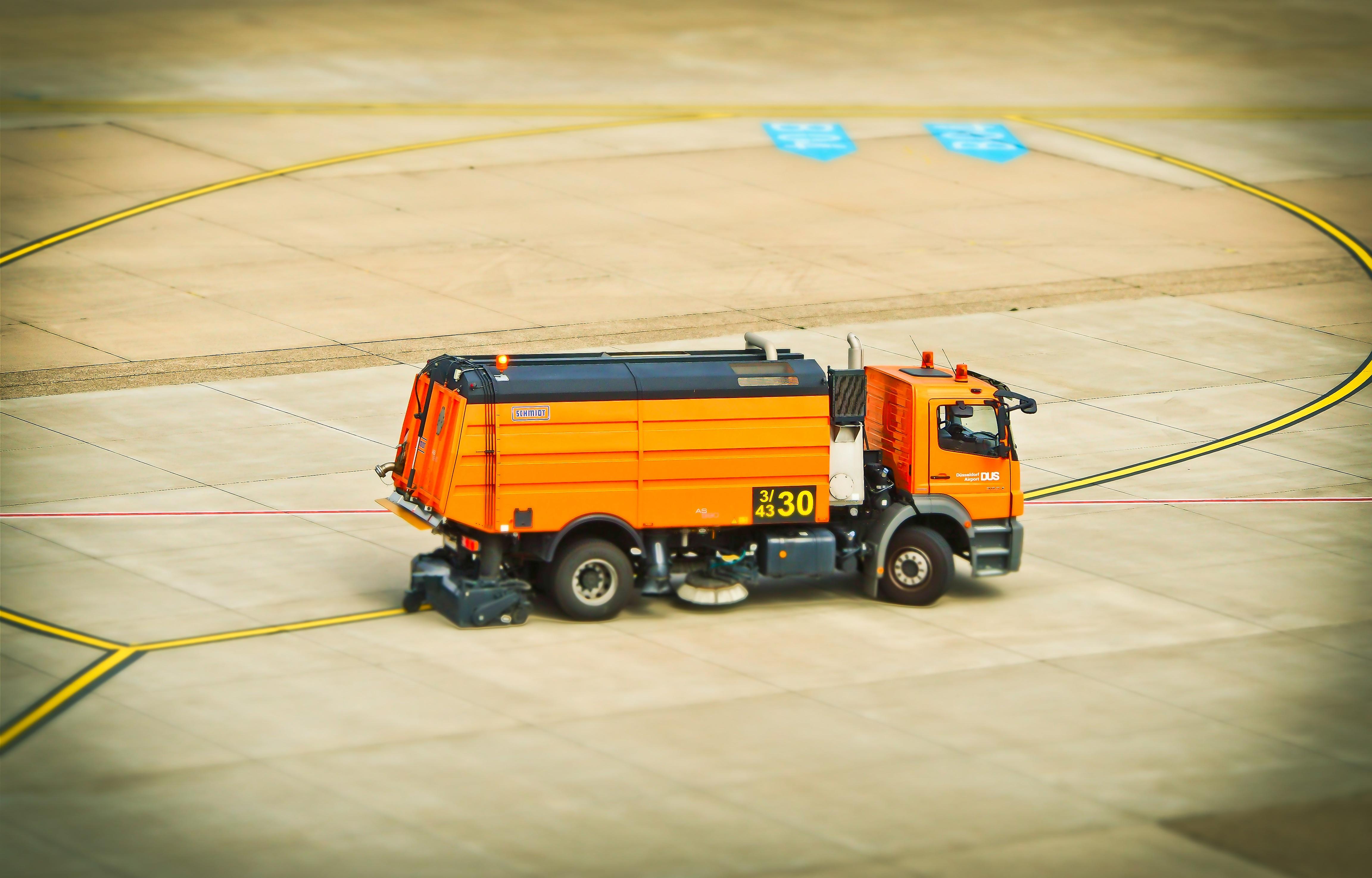 Ilmaisia Kuvia Lentokenttä Kuljetus Ajoneuvo Keltainen Lelu