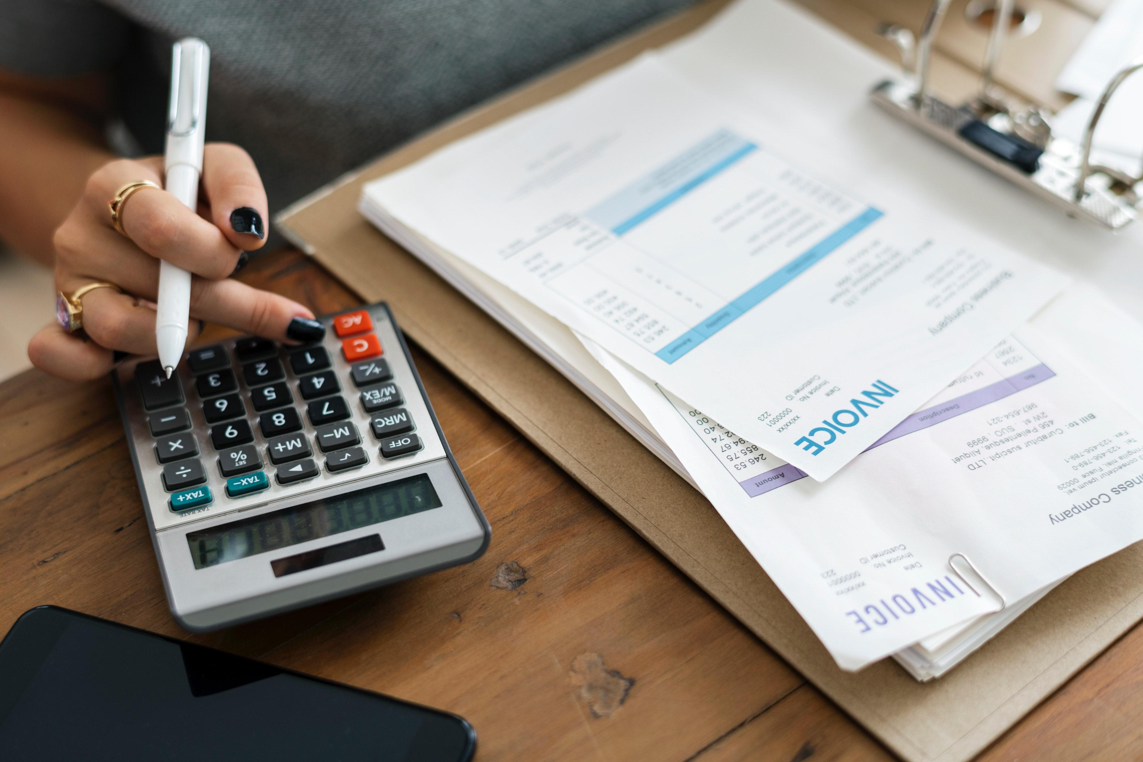 Free Images : alone, bills, calculator, desk, finance ...