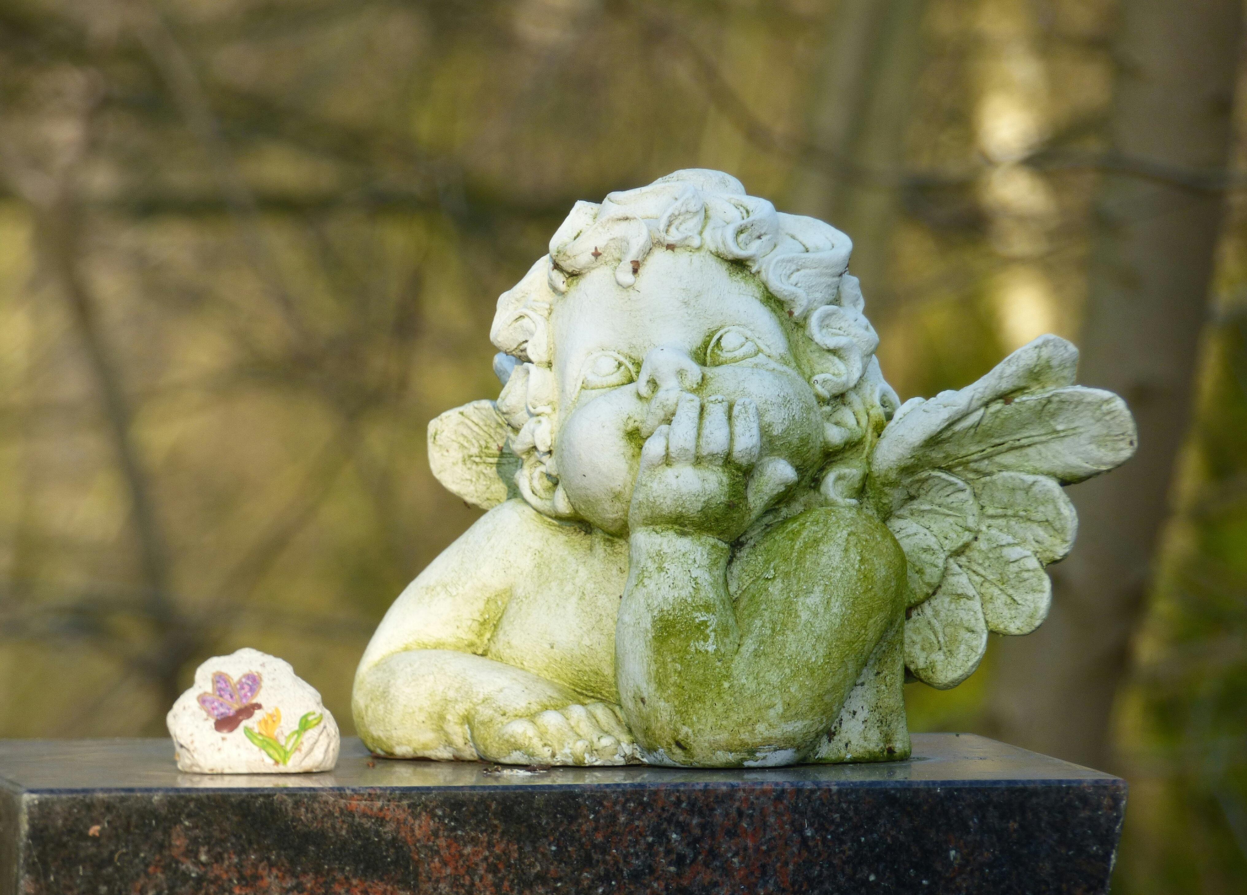 Free Images Faith Hope Ceramic Sculpture Angel Figure - Ceramic memorial photos