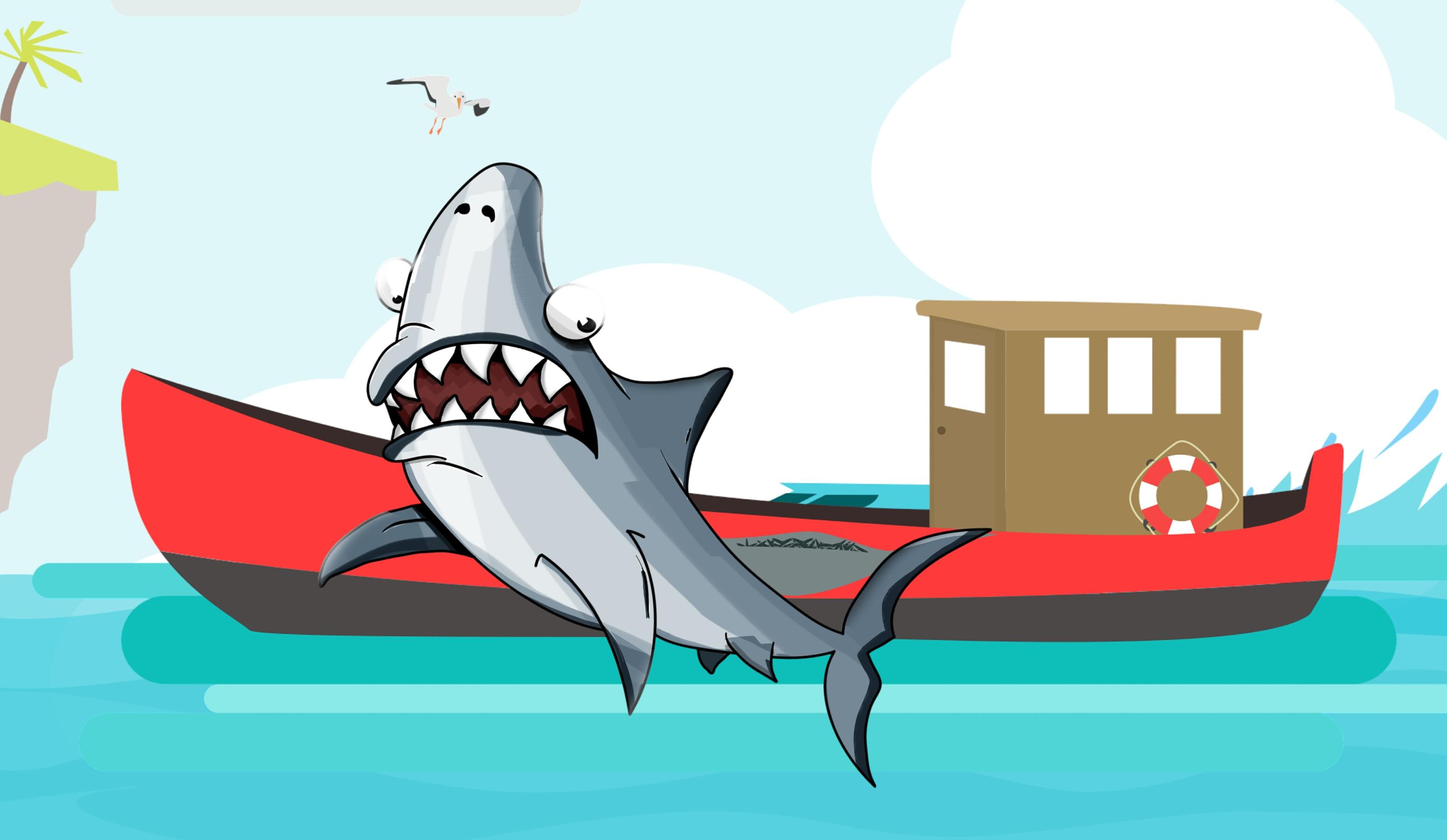Gambar Hewan Gambar Kartun Awan Awan Komik Ikan Lucu