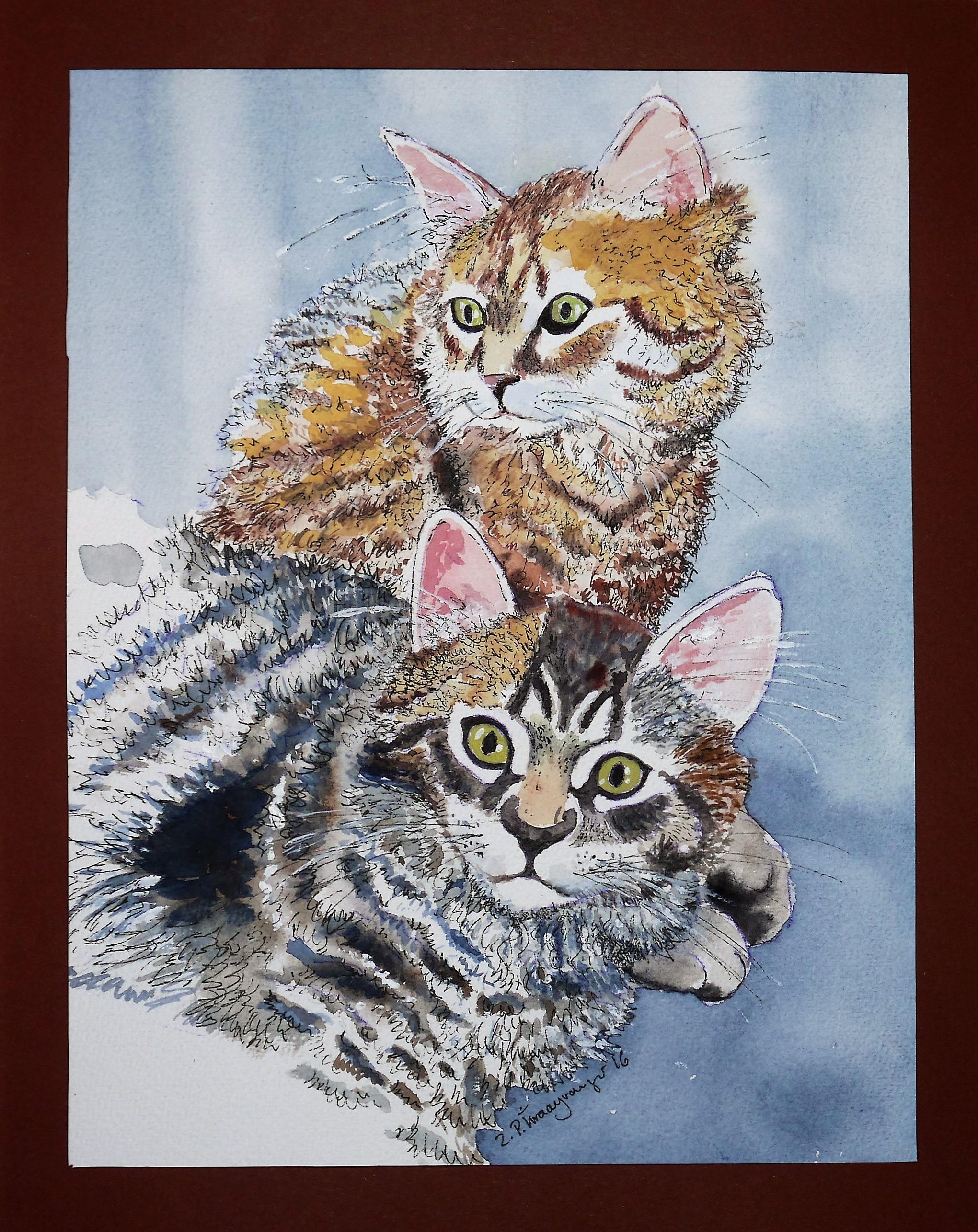 Gambar Hewan Warna Warni Lukisan Tekstil Sketsa Gambar