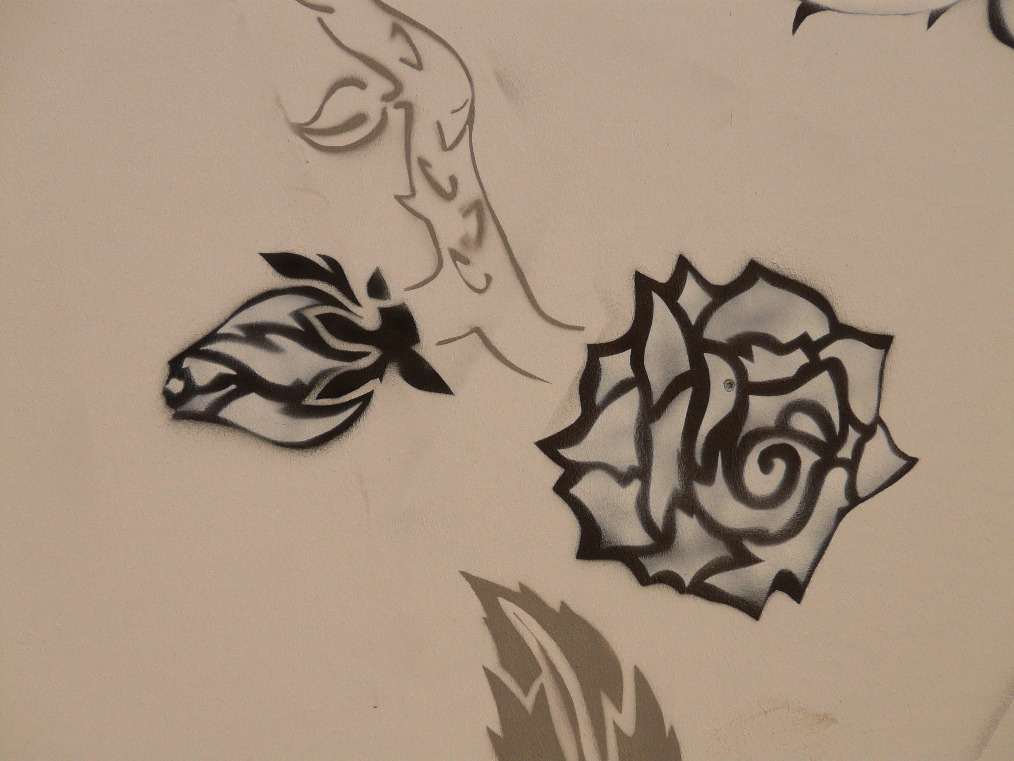 Gambar Hewan Mawar Cat Coretan Karya Seni Lukisan Fon