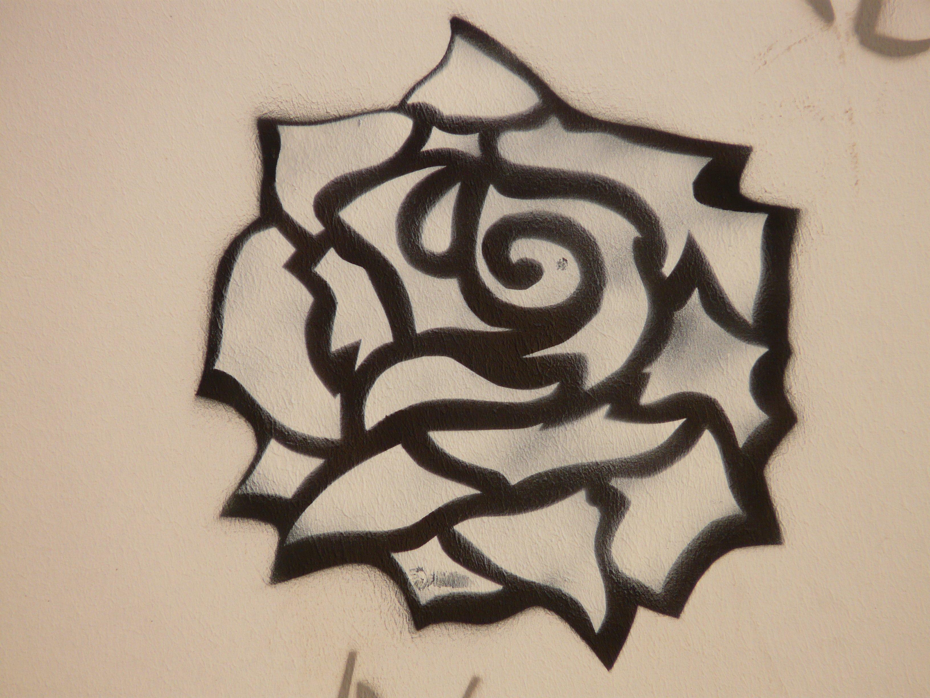 Gambar Hewan Mawar Pola Cat Coretan Karya Seni Lukisan Fon