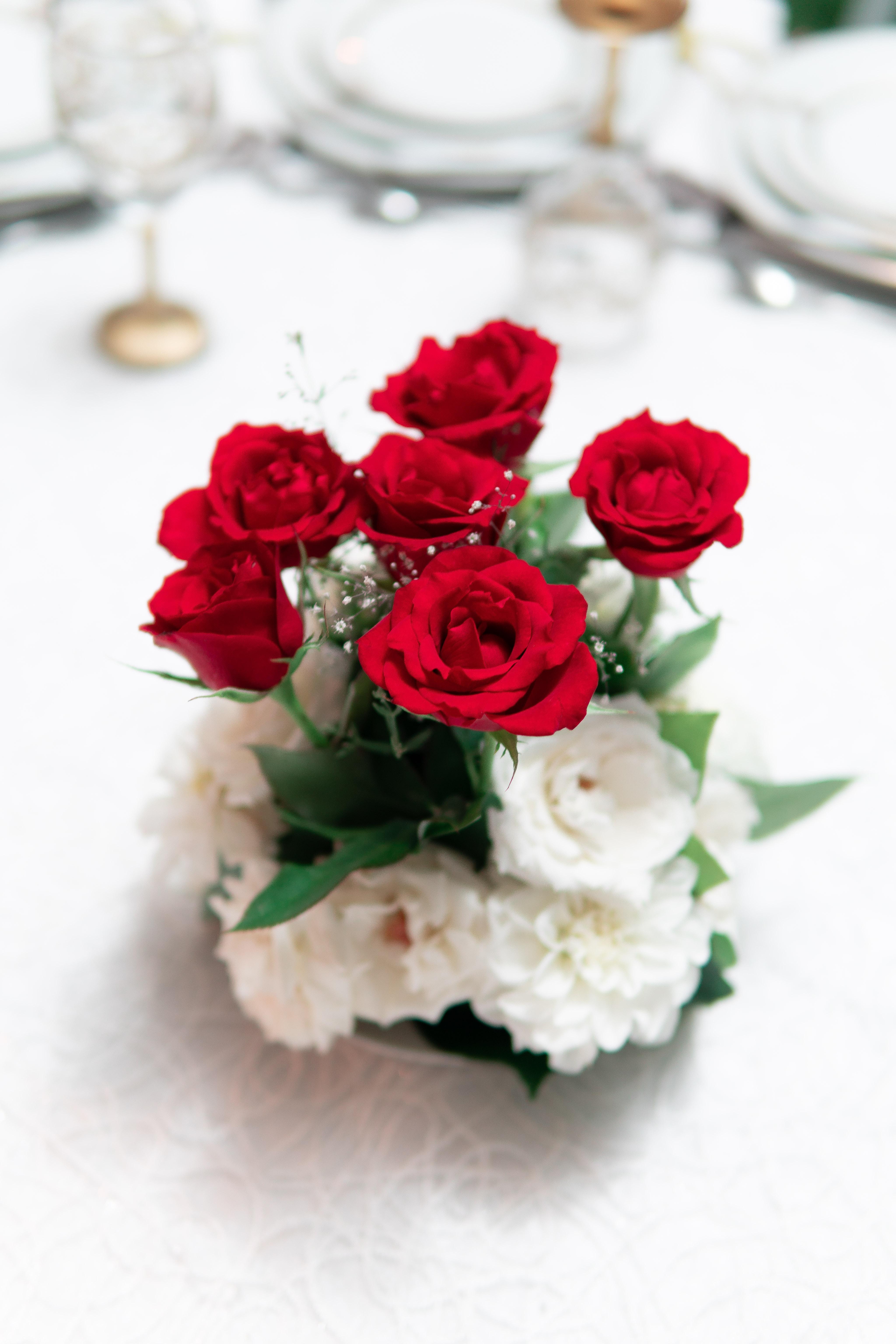 Fotoğraf Yıldönümü Güzel çiçeklenme çiçek Buket Gelin