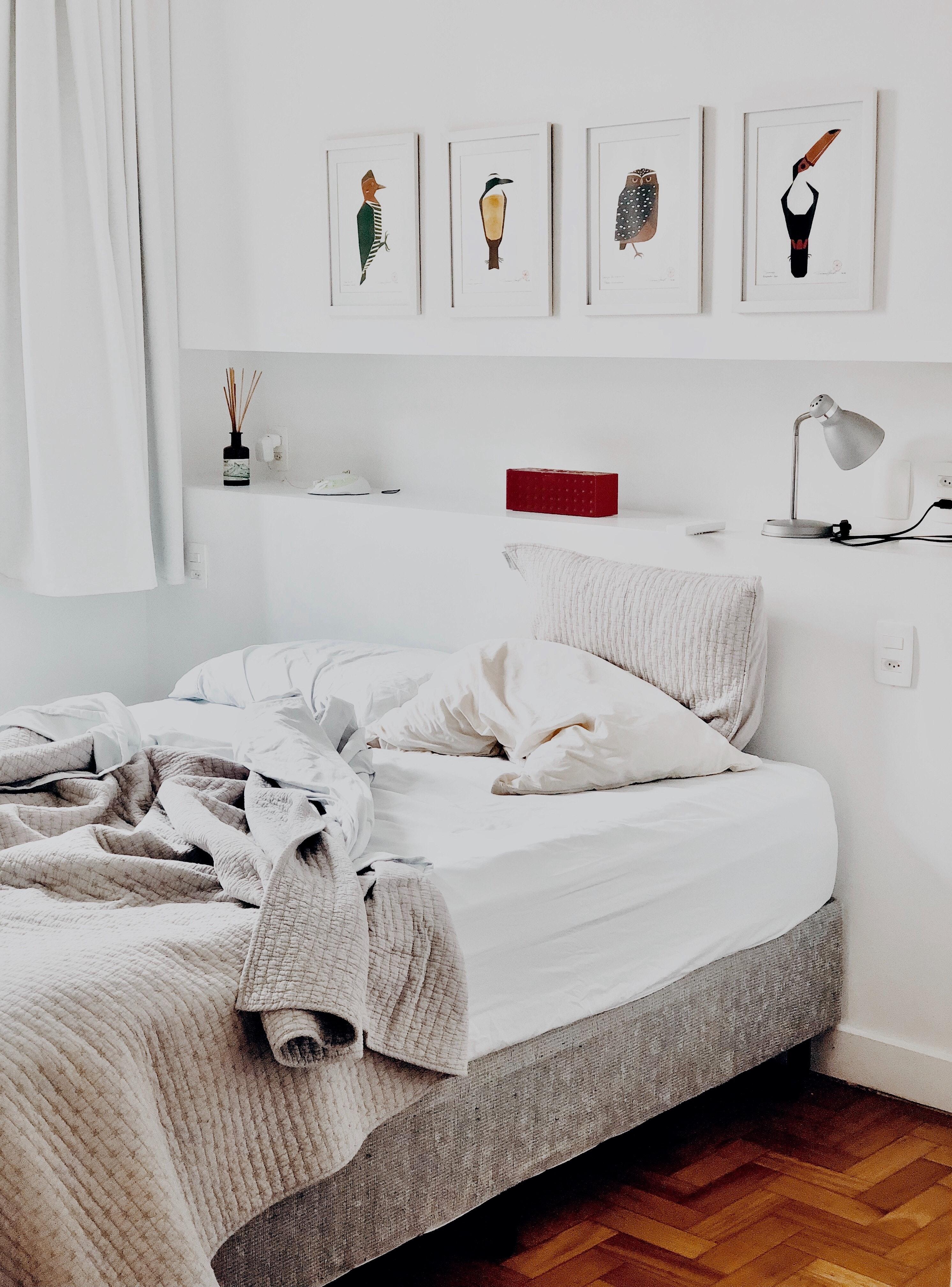 Banco De Imagens Apartamento Cama Cama Quarto Conforto