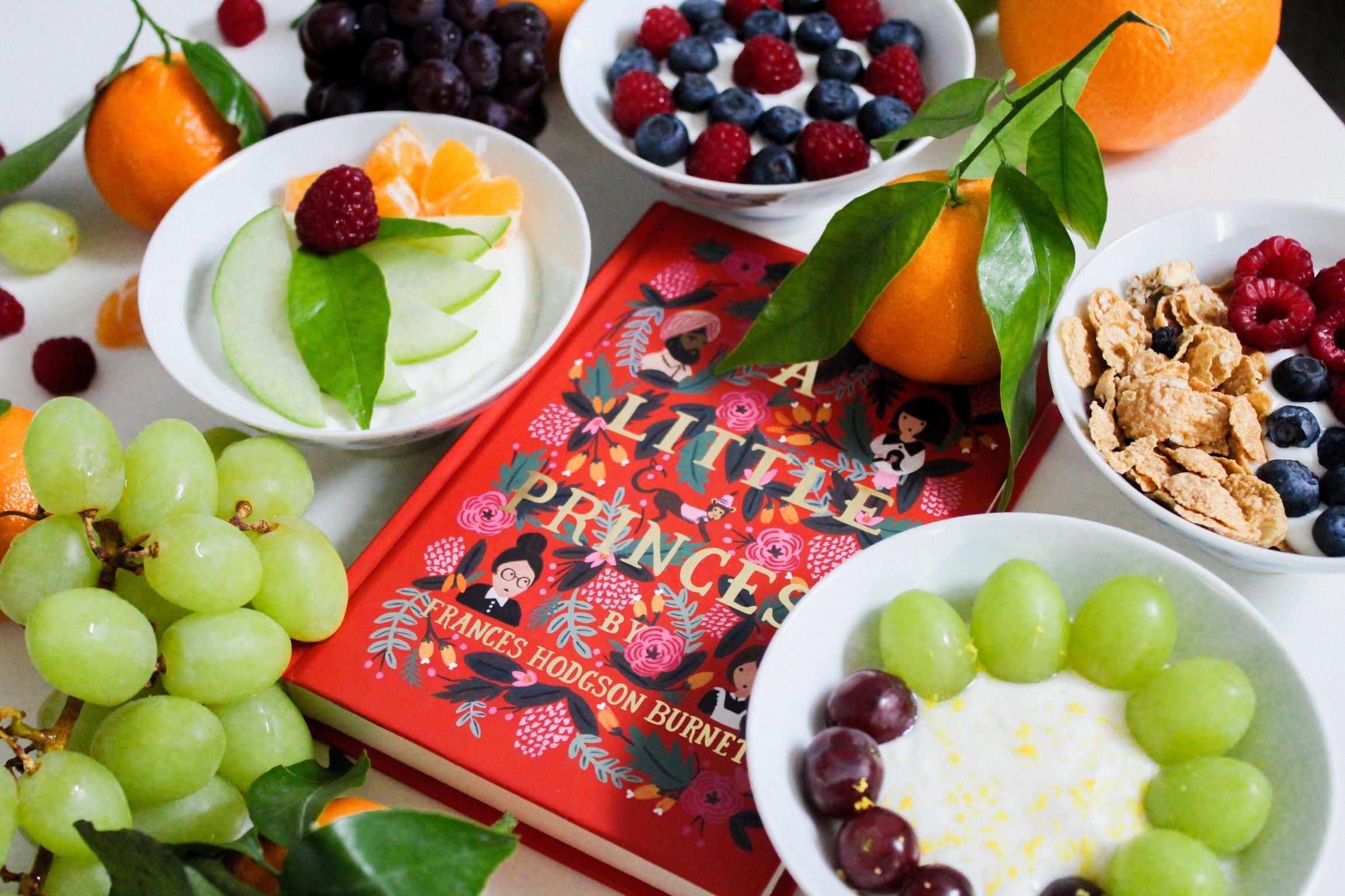 Free Images : apple, berries, book, breakfast, cereal bowl