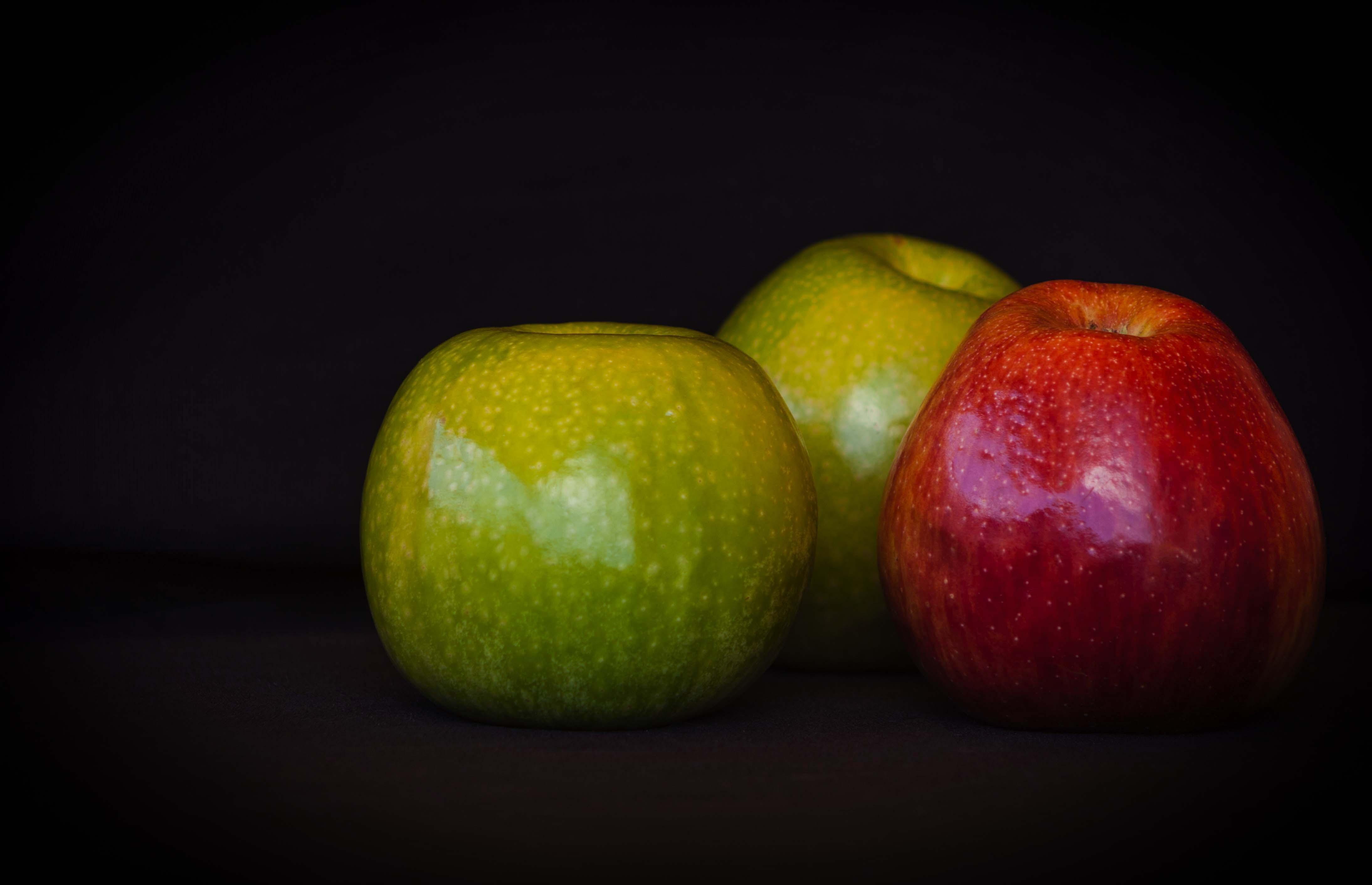 Fotoğraf Meyve Gıda Yeşil üretmek Boyama Kırmızı Elma