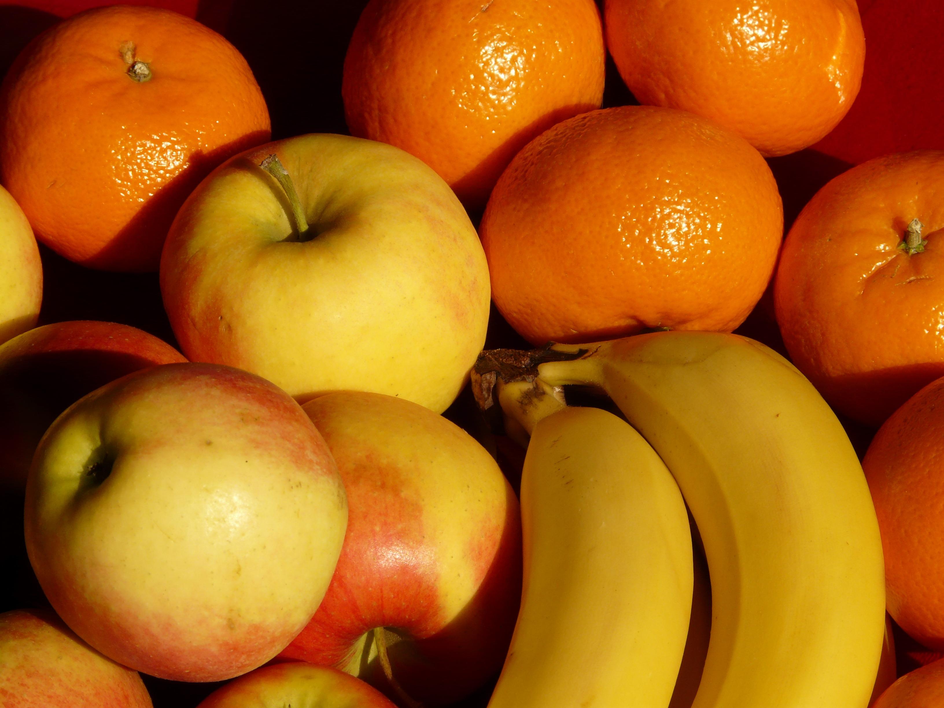 тем картинка яблоко банан апельсин как-то всё