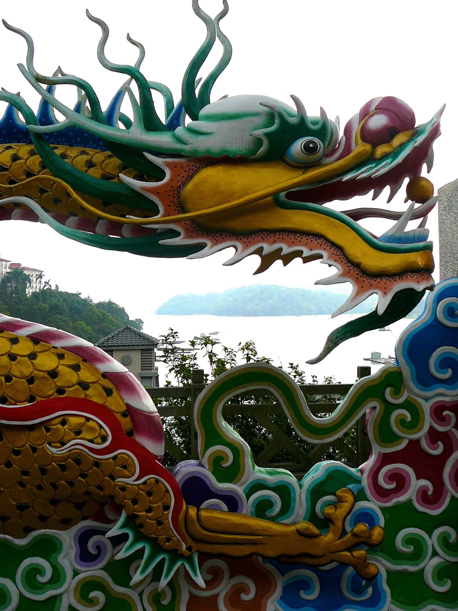 Gambar Arsitektur Asia Dekorasi Cina Simbol Agama Budha