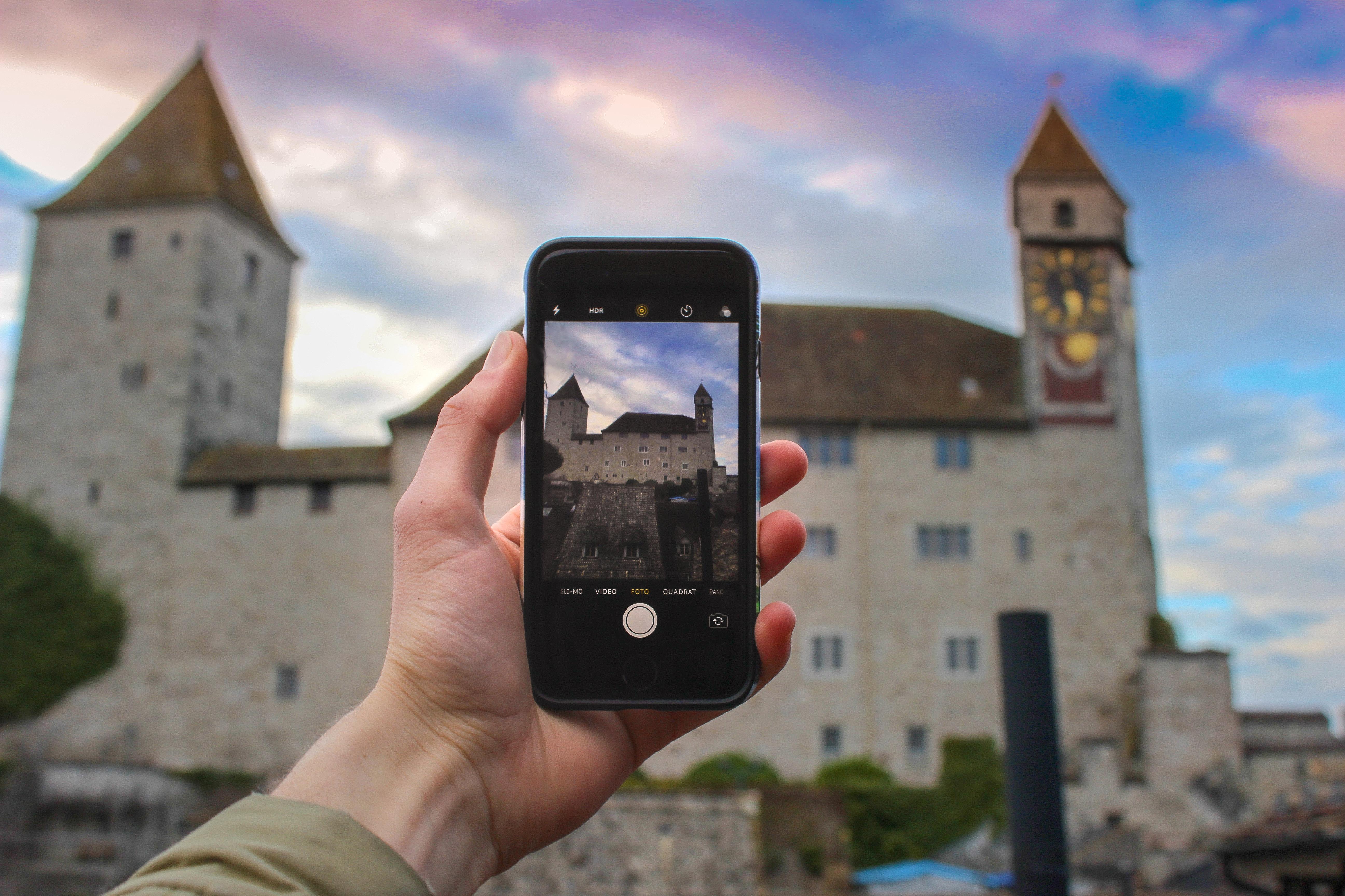 Free Images : architecture, blur, castle, cellphone