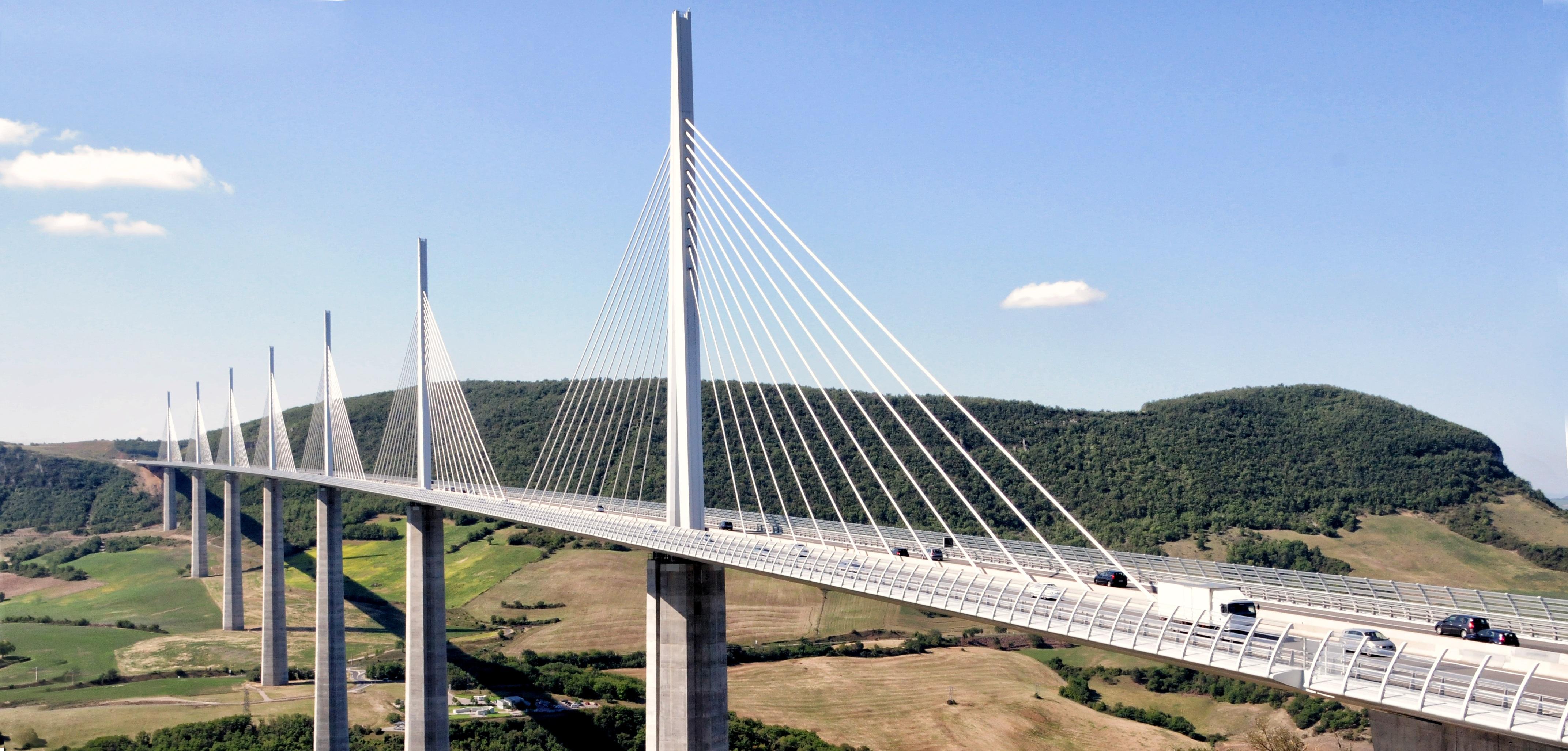 Images gratuites architecture pont suspendu france for Pilier moderne