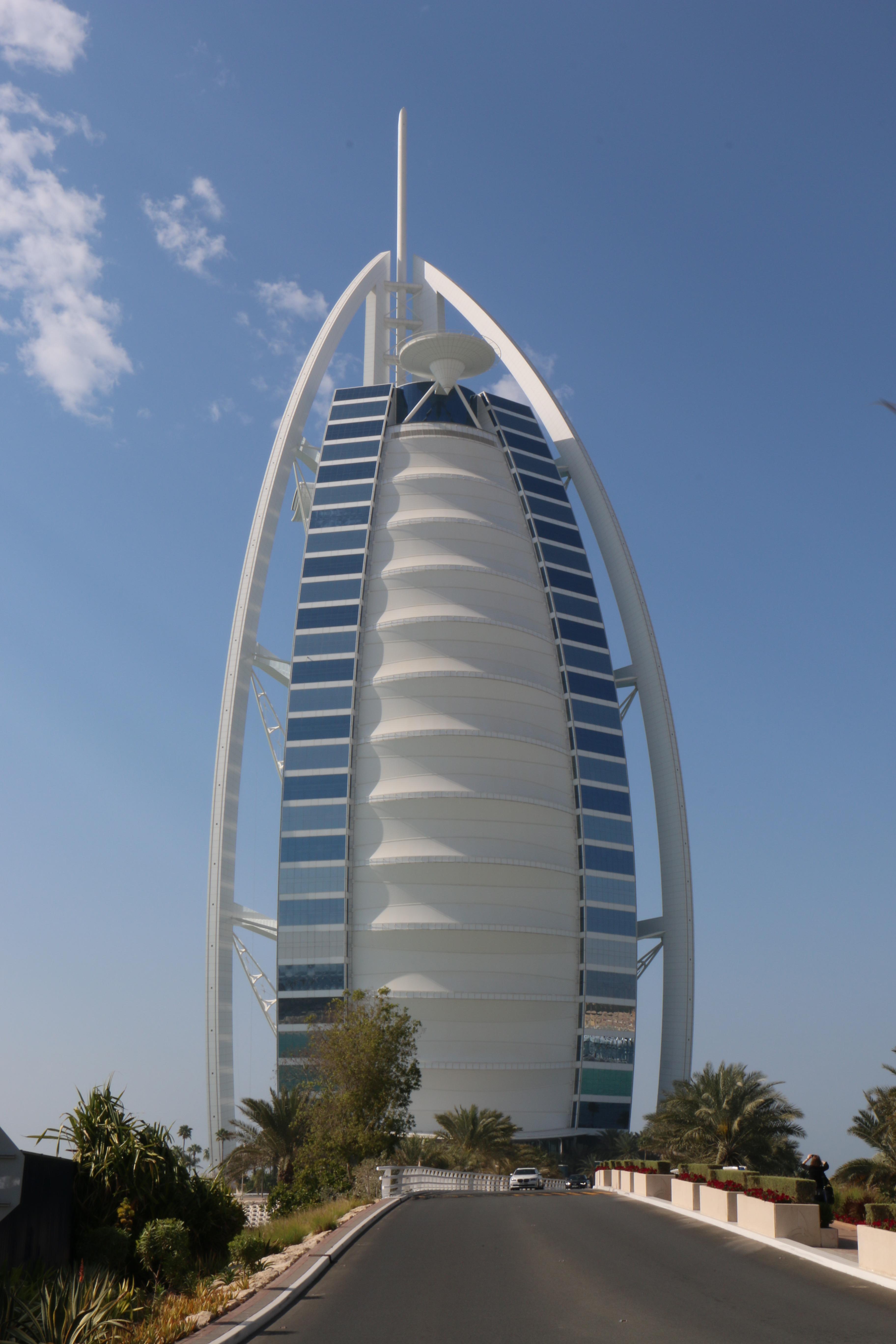 edificio ciudad rascacielos arco torre dubai punto de referencia bloque de pisos burj al arab