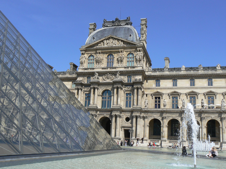 Architecture Building Palace Paris Monument Travel Museum Pyramid Plaza  Landmark Facade Tourism Louvre Museum Town Square