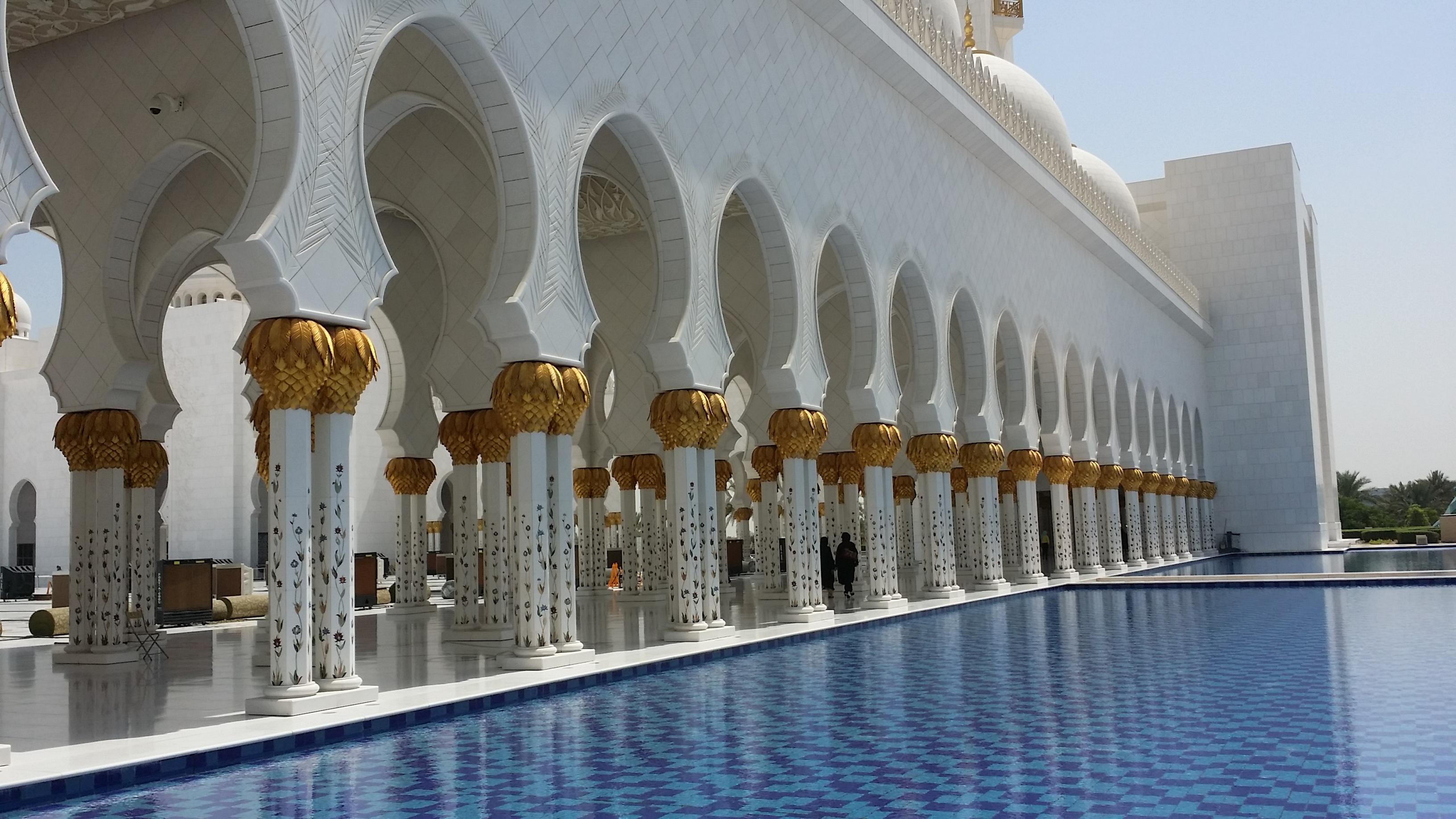 edificio palacio plaza punto de referencia fachada lugar de adoracin fuente mezquita uae fuente de