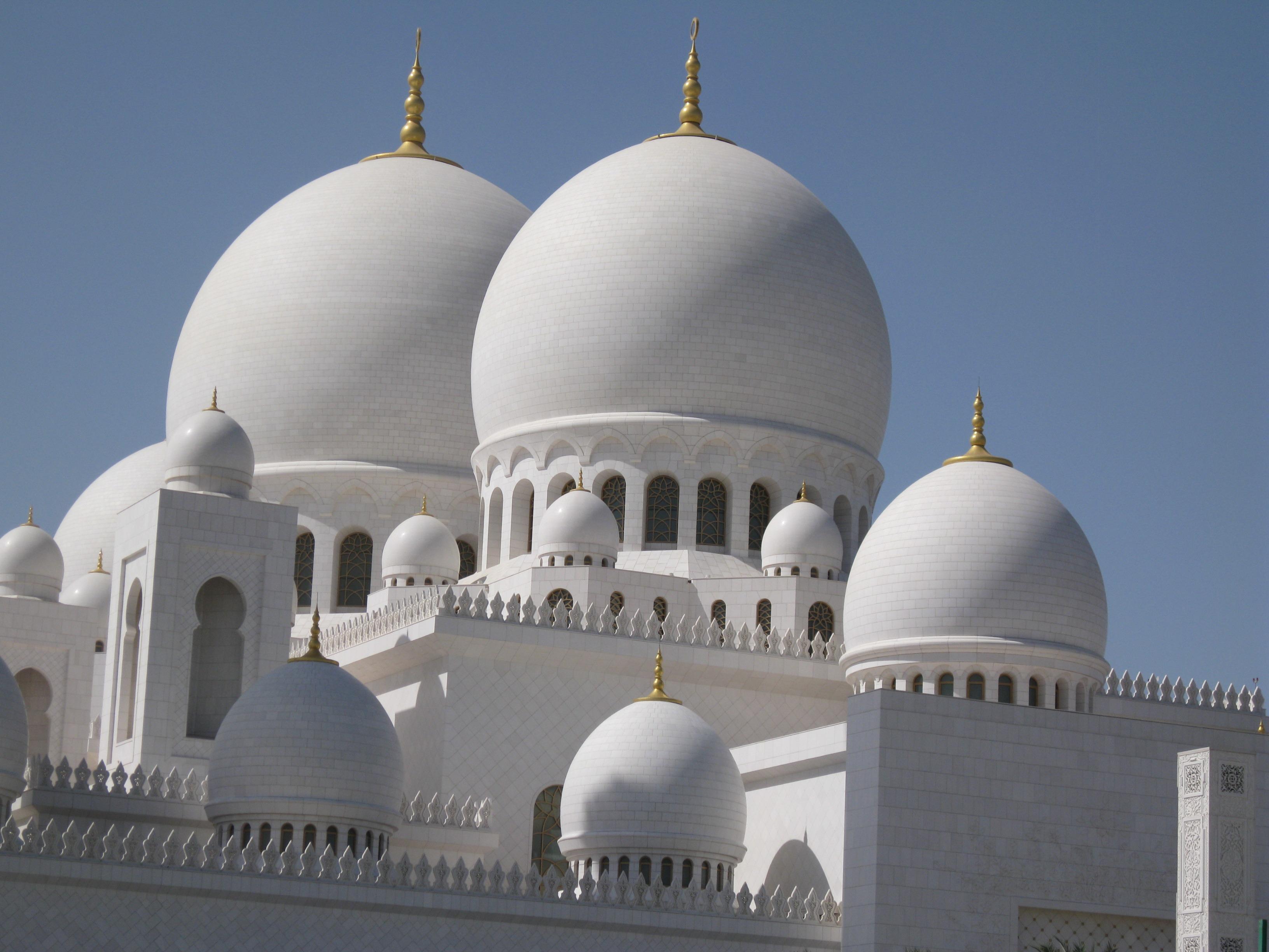 edificio lugar de adoracin grandioso edificios mezquita uae cpula medio arbica este musulmn islmico