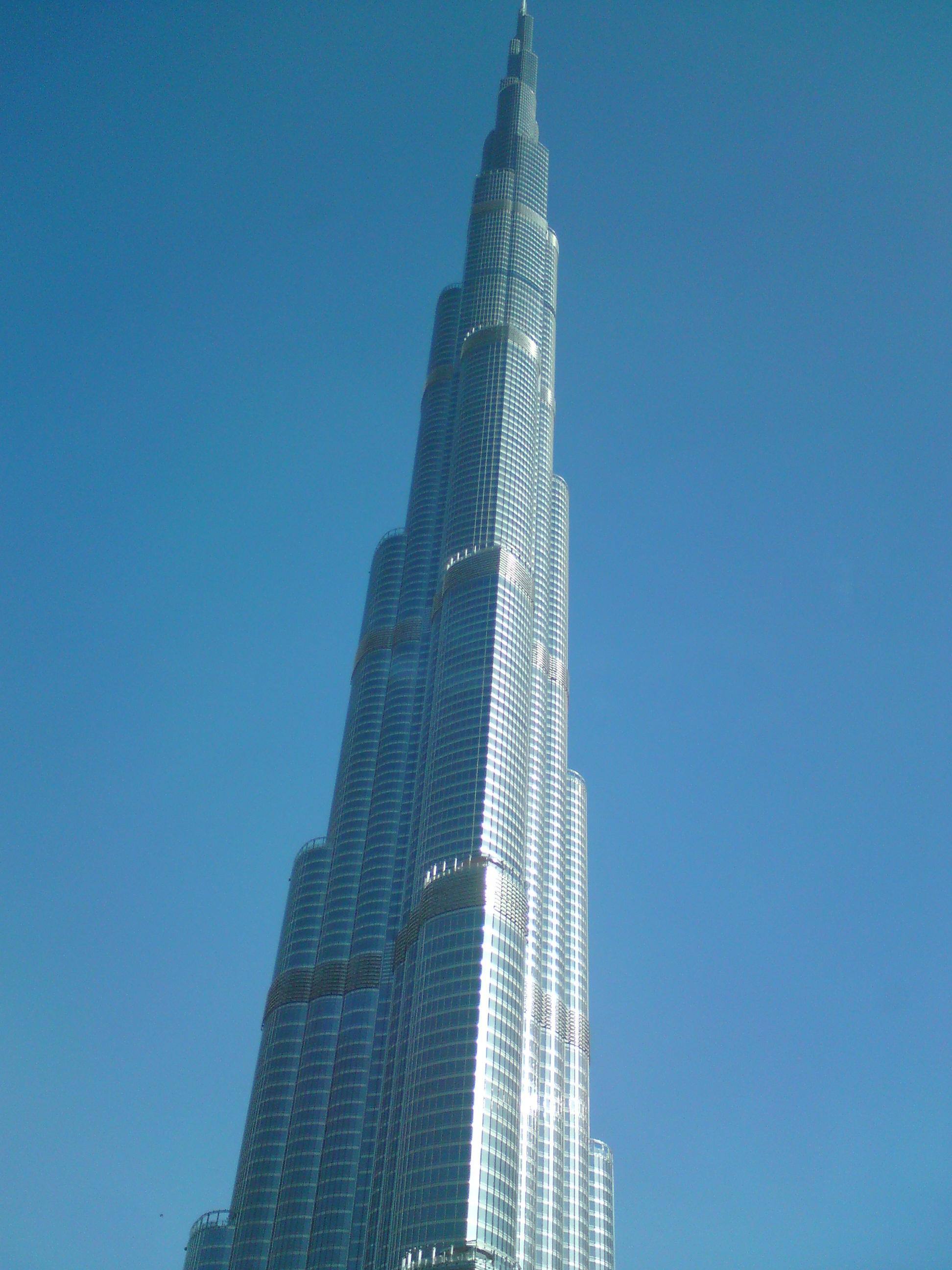 edificio rascacielos torre dubai punto de referencia bloque de pisos aguja campanario burj khalifa emiratos