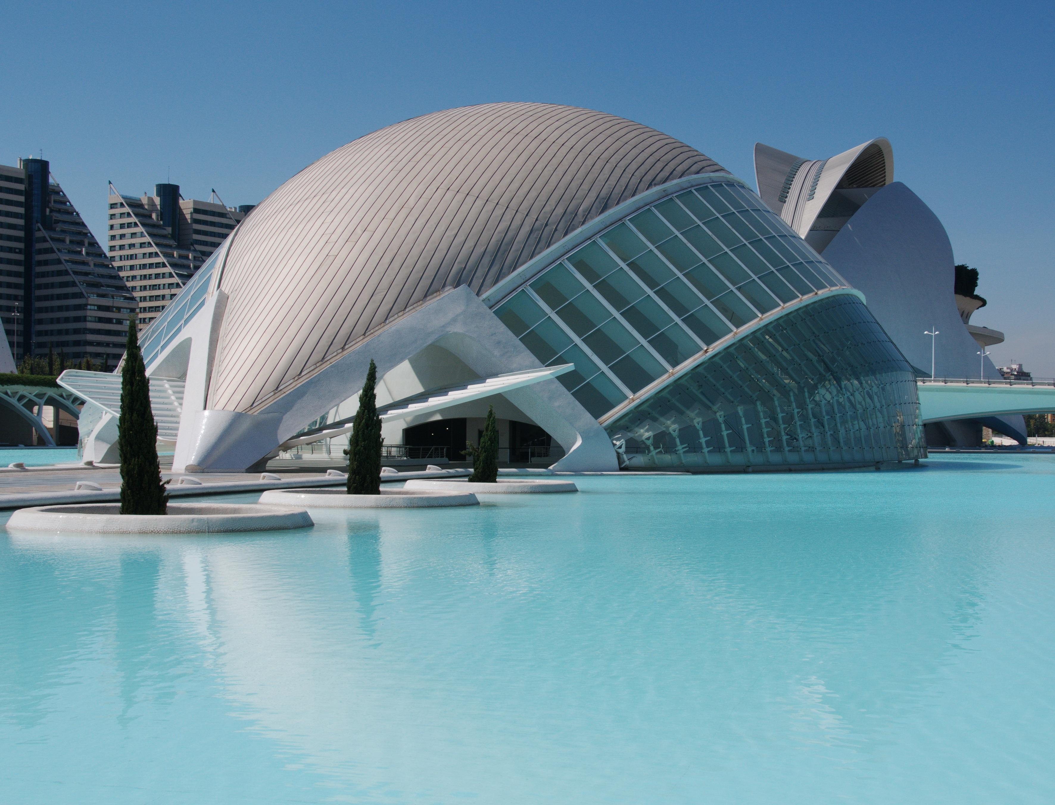 Ilmaisia Kuvia : arkkitehtuuri, rakennus, uima-allas, oopperatalo, Espanja, valencia, kaupungin ...