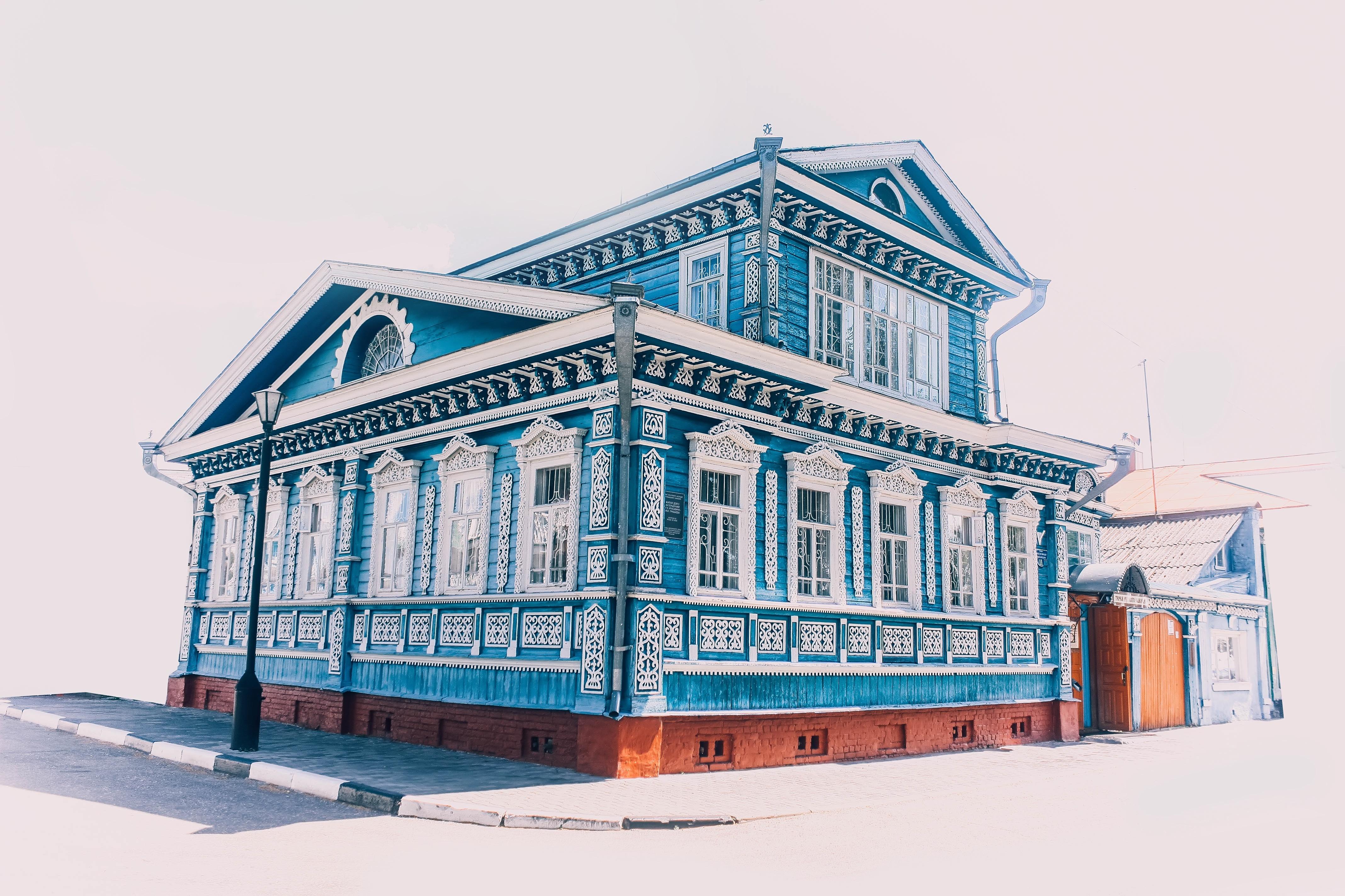 Gambar Arsitektur Rumah Bangunan Tengara Penglihatan Sketsa