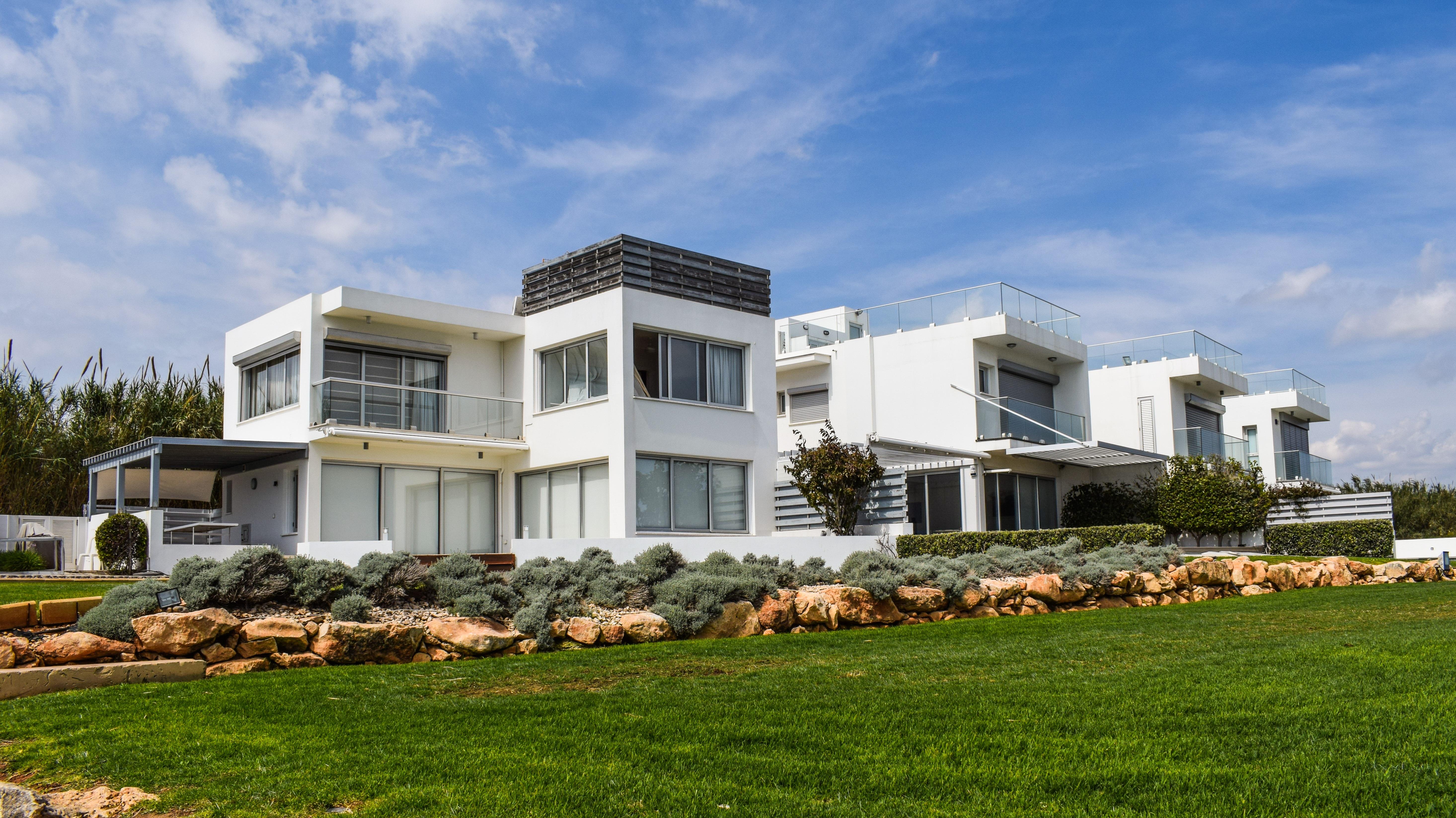 Residential Real Estate Development : Fotoğraf mimari çim villa konak ev bina kenar