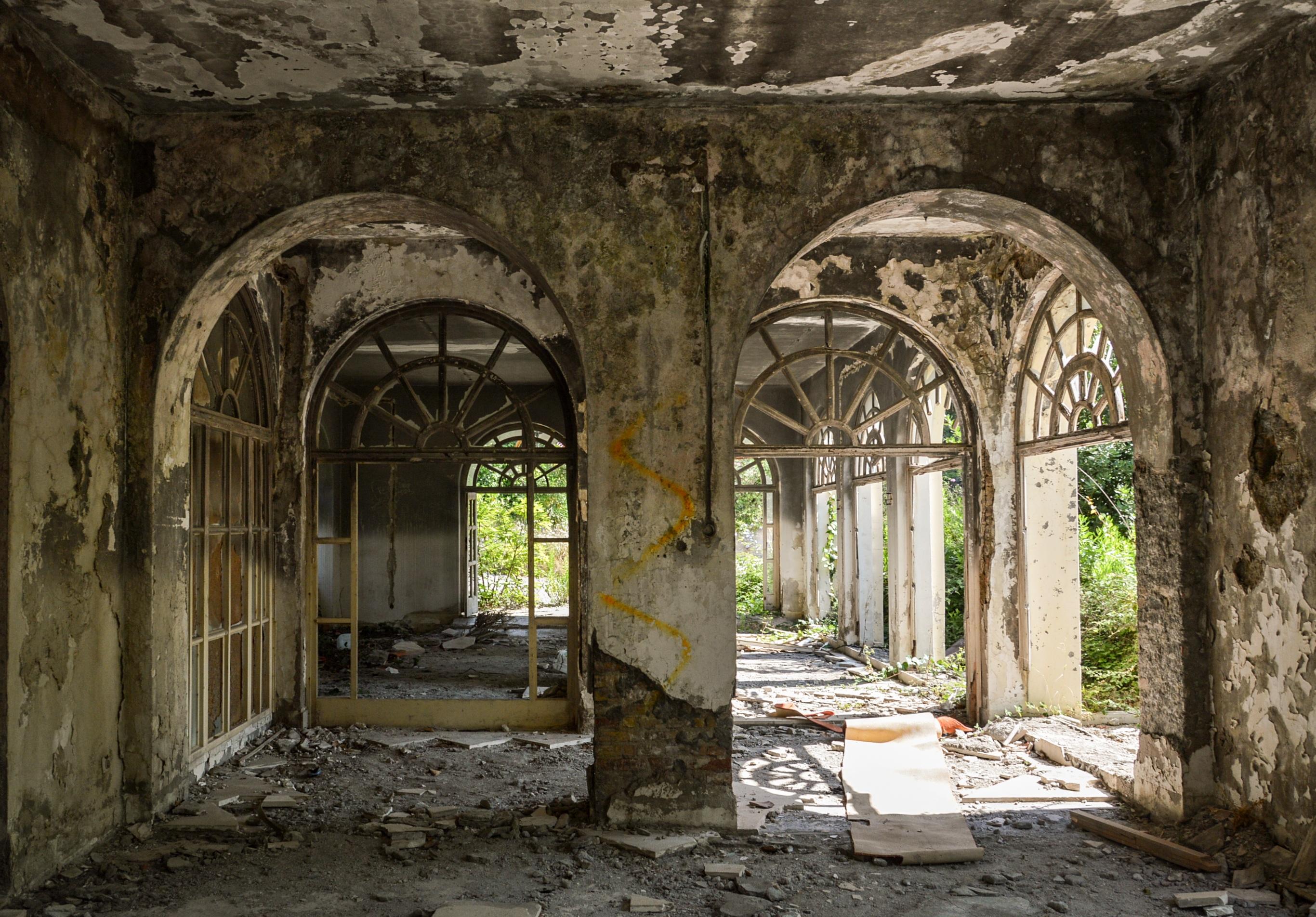 Kostenlose Foto Die Architektur Villa Gebaude Bogen Verlassen