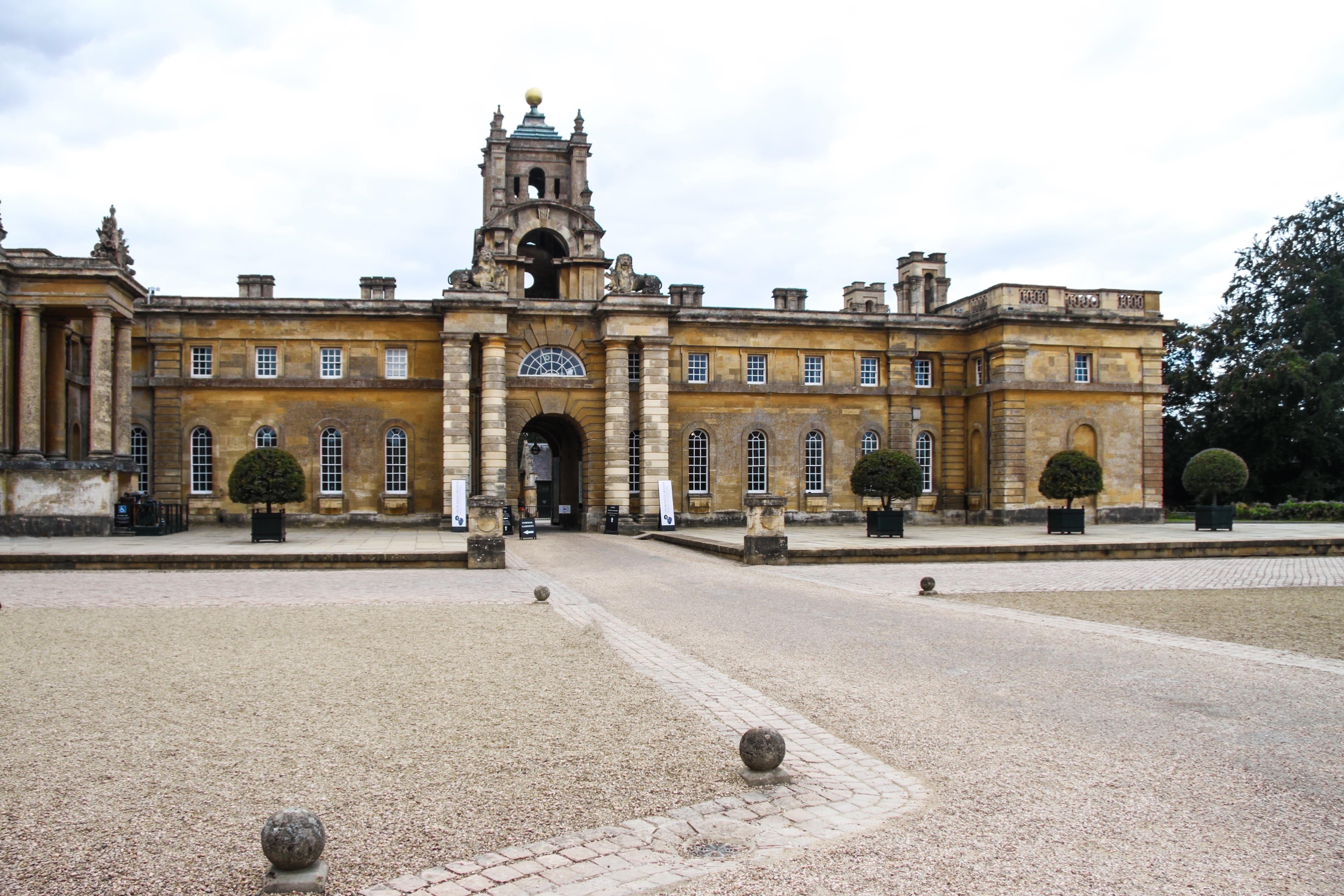 castillo punto de referencia herencia mundial inglaterra plaza de la ciudad inmuebles oxfordshire casa seorial woodstock palacio de blenheim