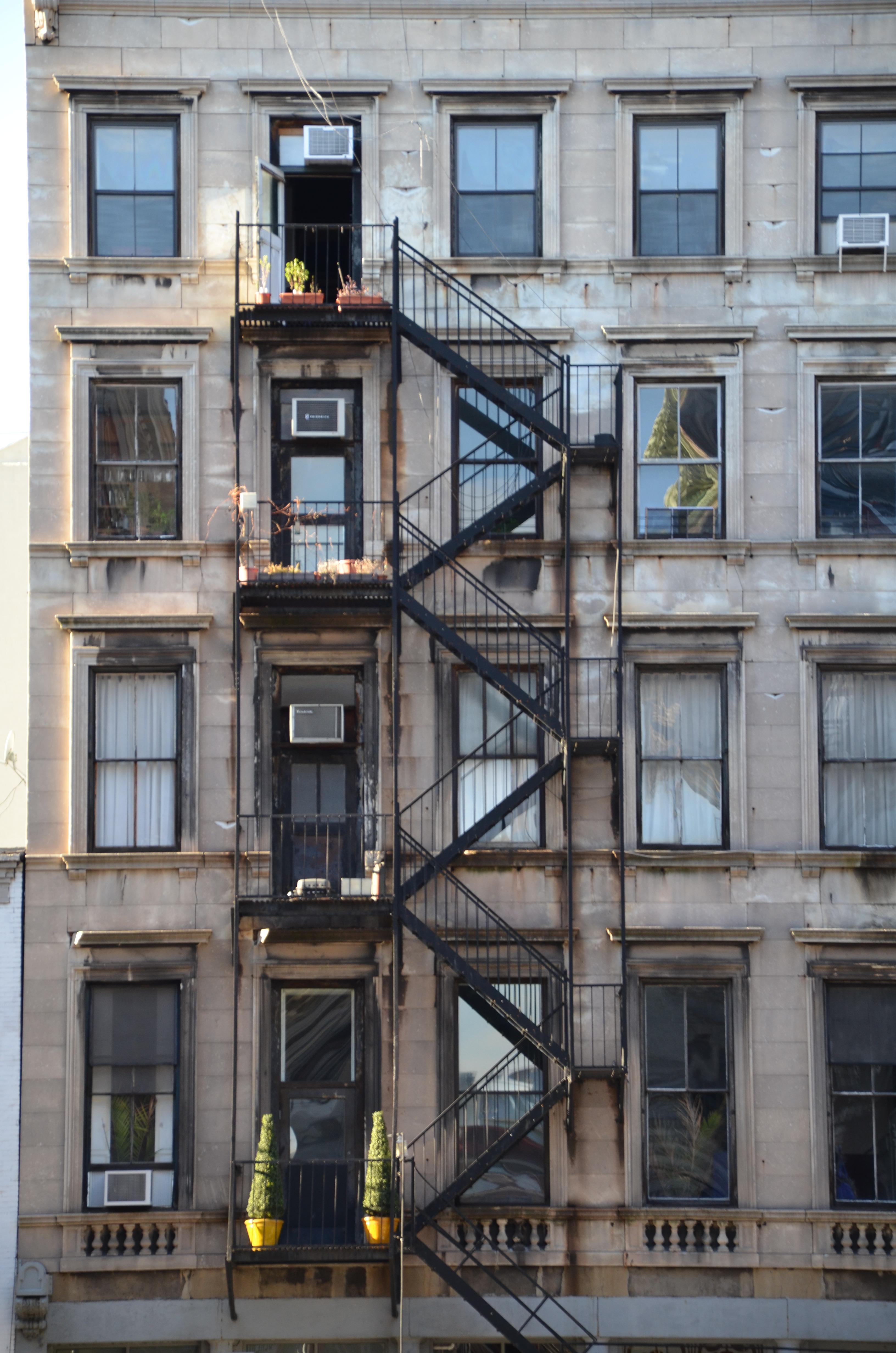 Gambar arsitektur rumah besar bangunan new york pusat kota balkon penglihatan milik - Pisos en new york ...