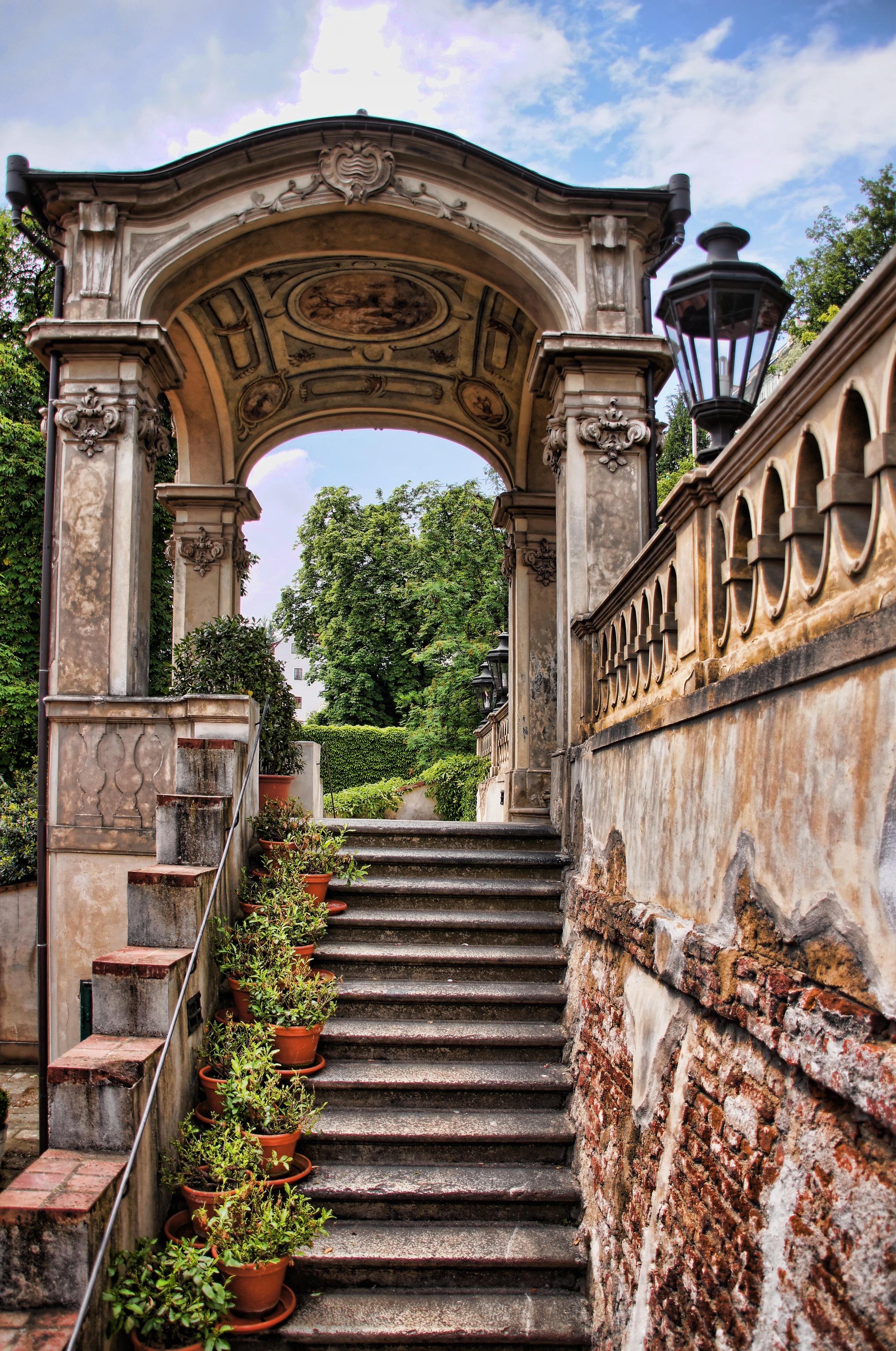 Fotos gratis arquitectura palacio pared viajar arco for Arco decorativo jardin