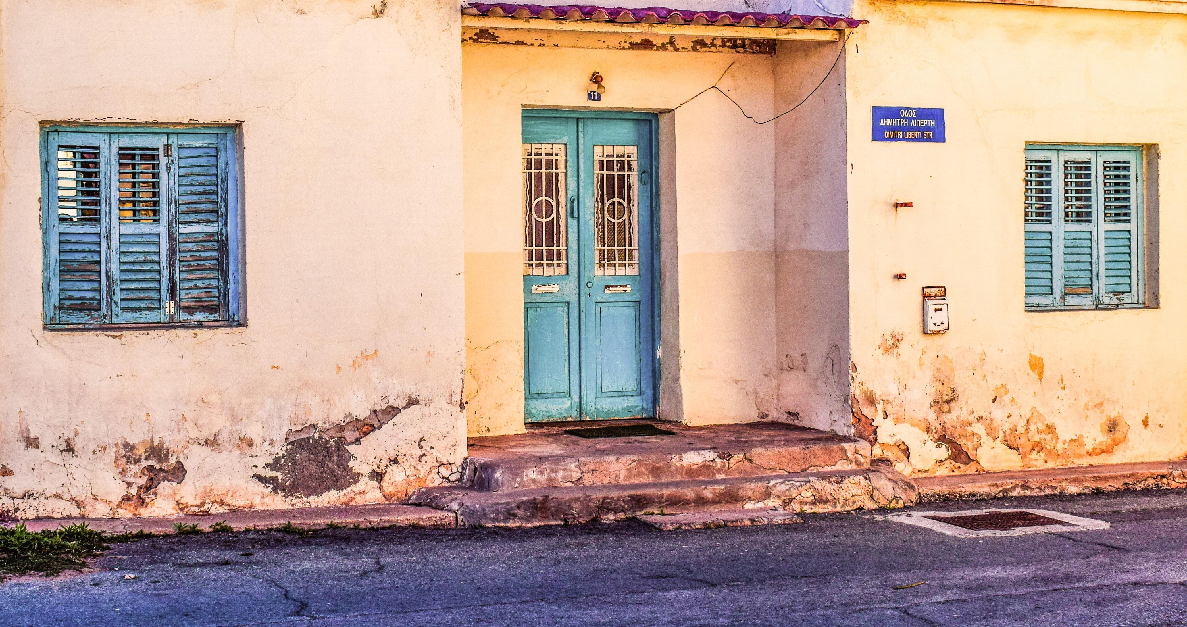 Fotos gratis arquitectura la carretera calle ventana for Puerta casa antigua