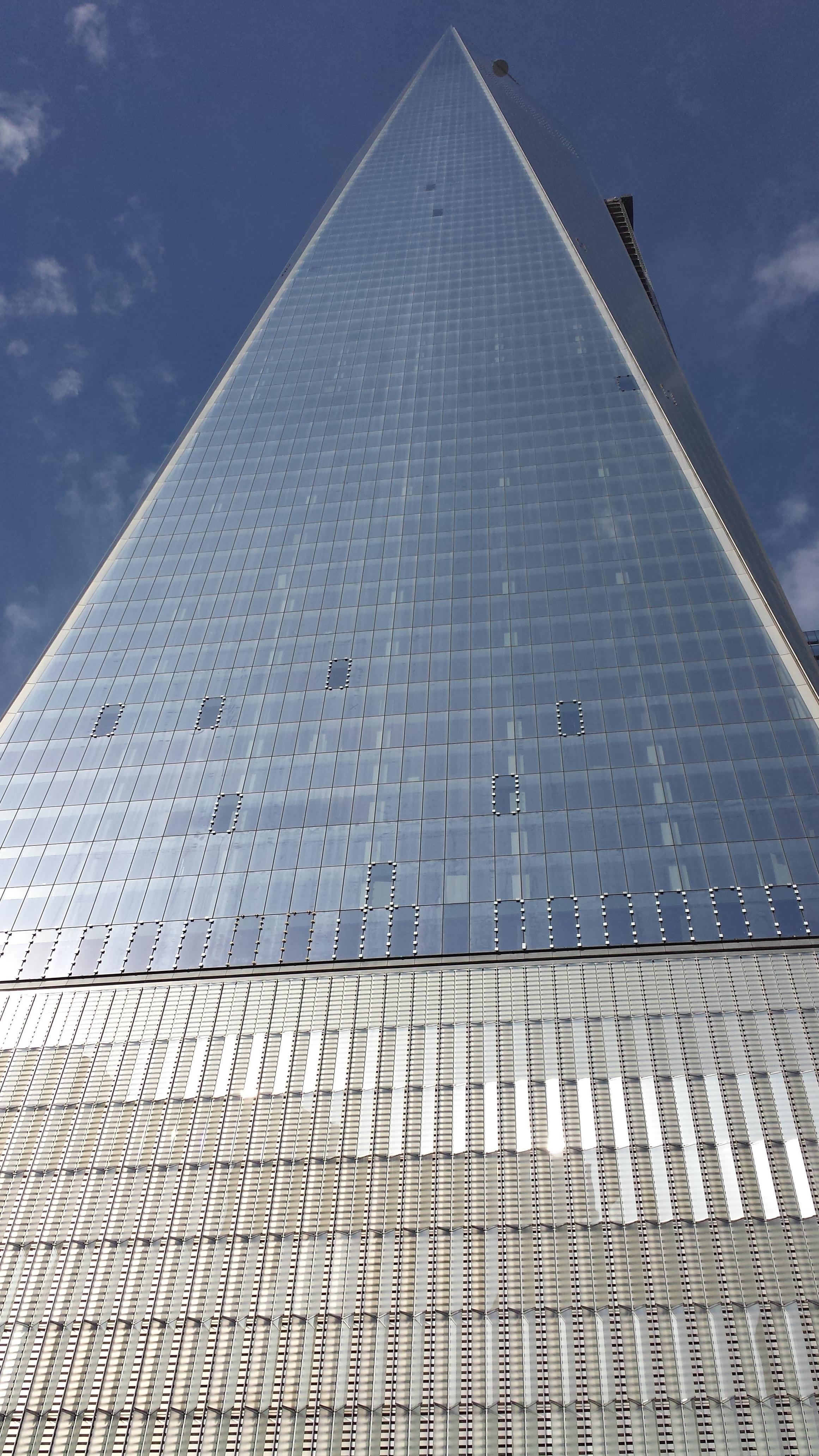 techo rascacielos nueva york manhattan nueva york monumento lnea pirmide punto de referencia fachada bloque de pisos simetra forma wtc
