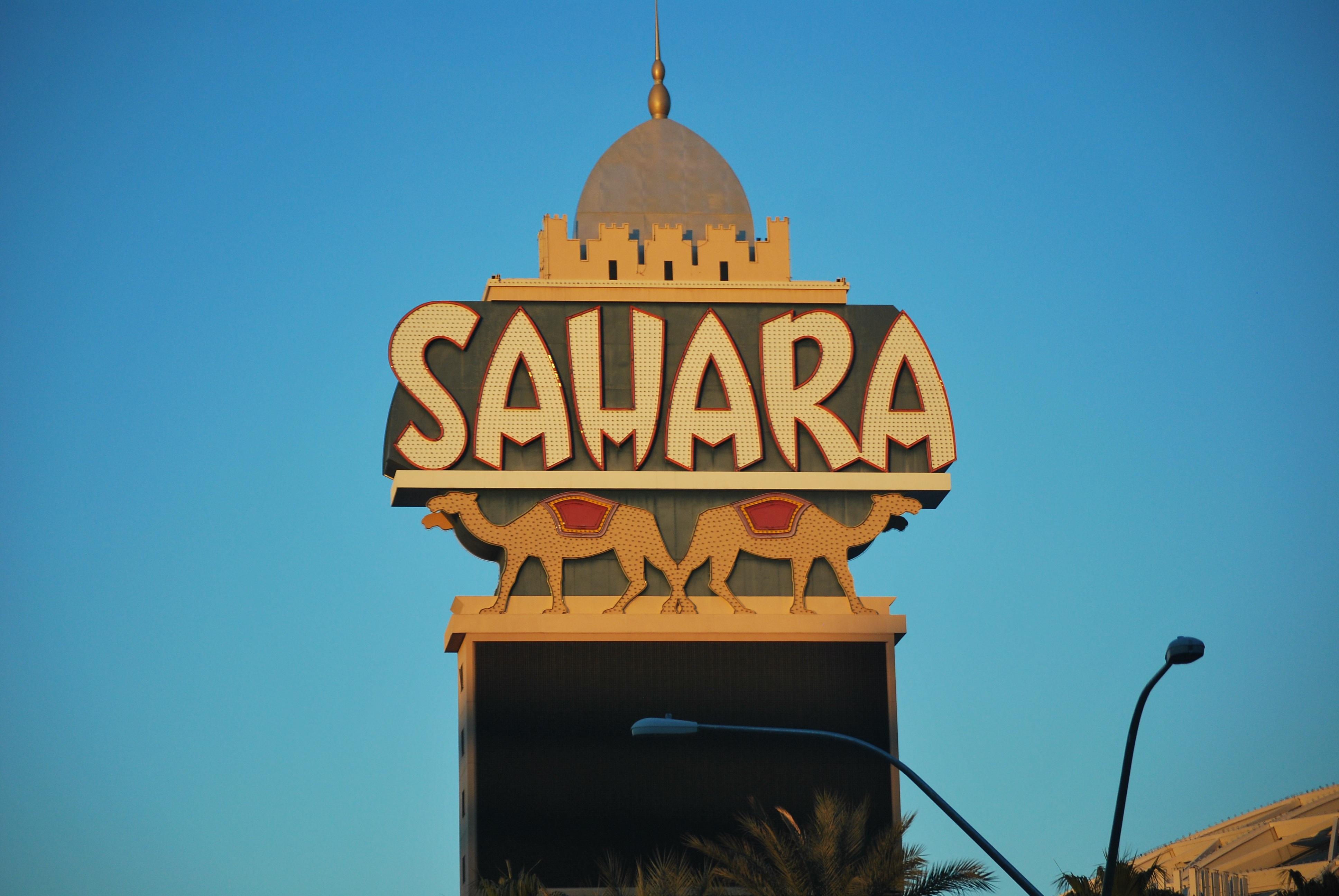 архитектура знак вечер Башня Ориентир храм казино Рекламный щит Лас Вегас Сахара казино